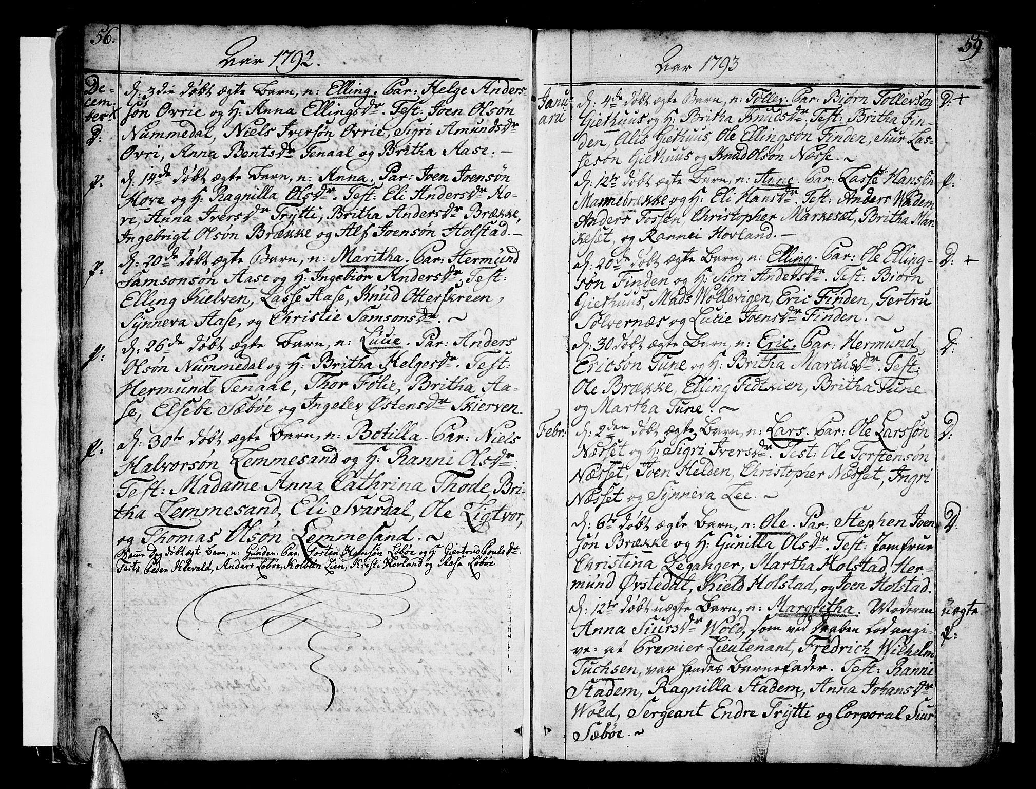 SAB, Vik Sokneprestembete, Ministerialbok nr. A 5, 1787-1820, s. 58-59
