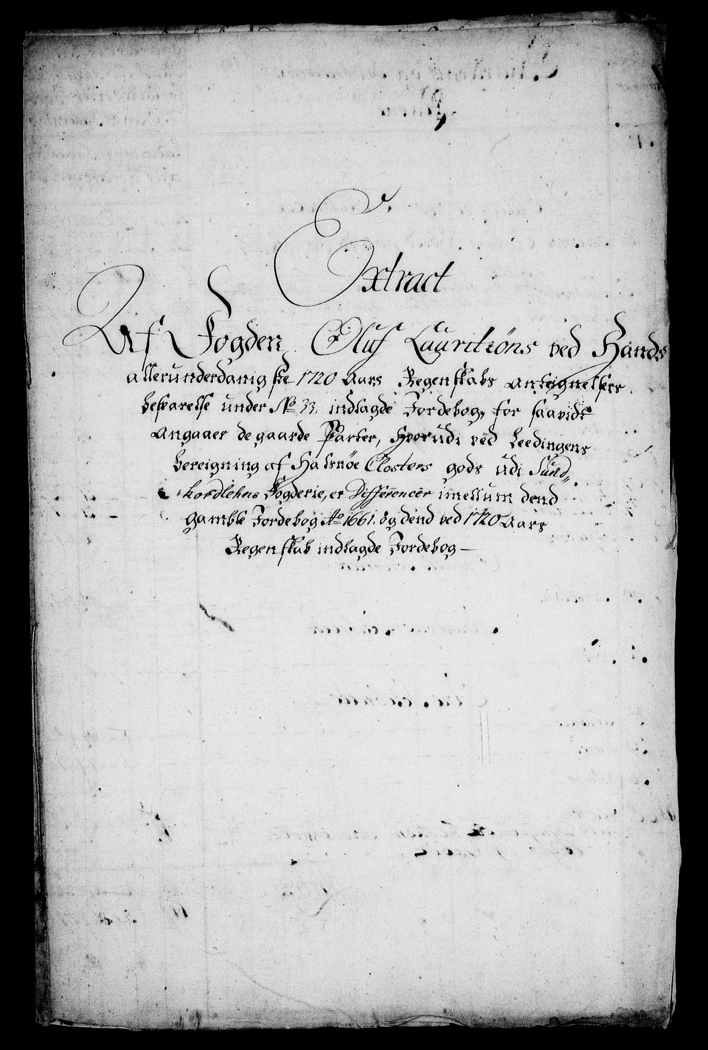 RA, Rentekammeret inntil 1814, Realistisk ordnet avdeling, On/L0005: [Jj 6]: Forskjellige dokumenter om Halsnøy klosters gods, 1697-1770, s. 411