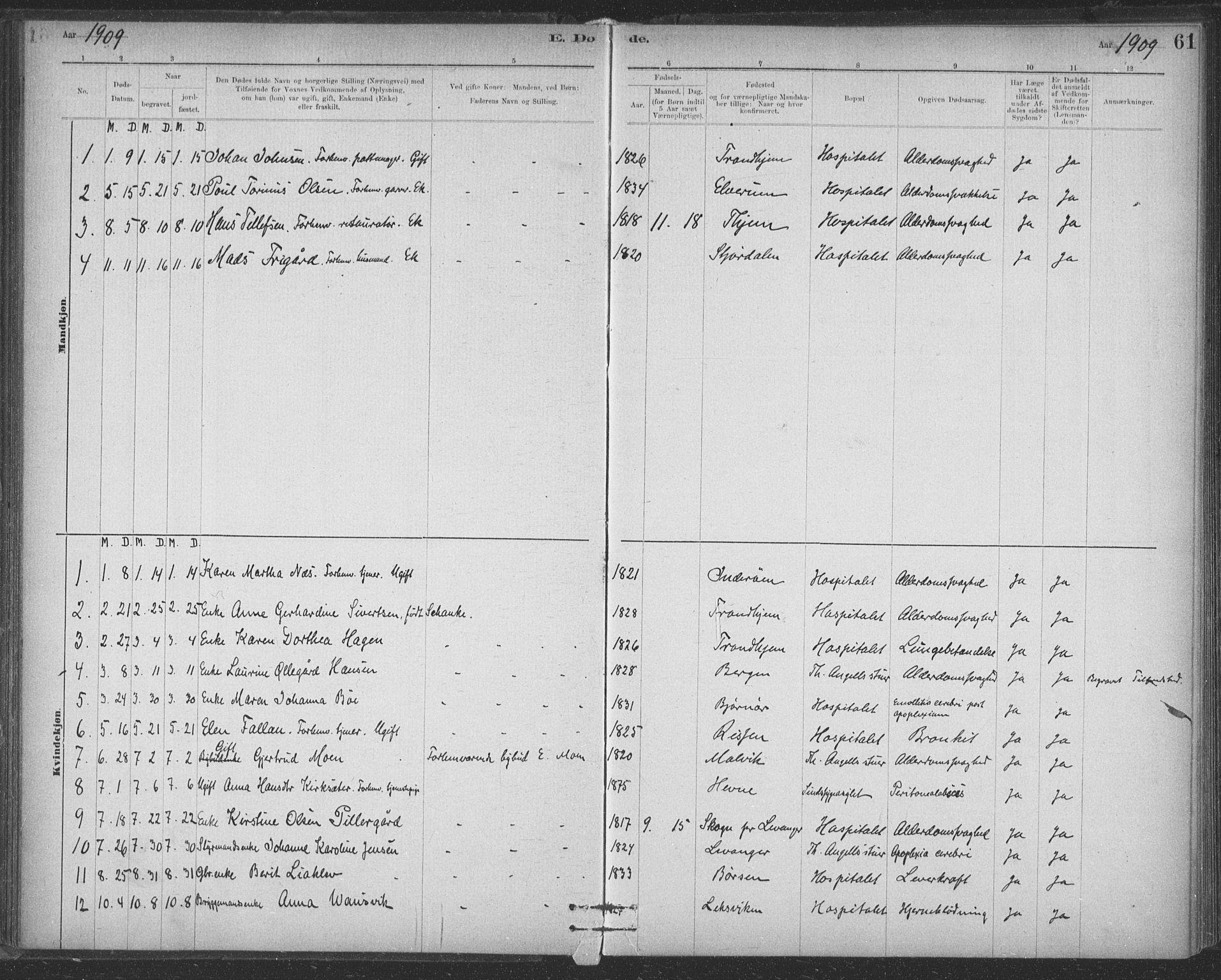 SAT, Ministerialprotokoller, klokkerbøker og fødselsregistre - Sør-Trøndelag, 623/L0470: Ministerialbok nr. 623A04, 1884-1938, s. 61