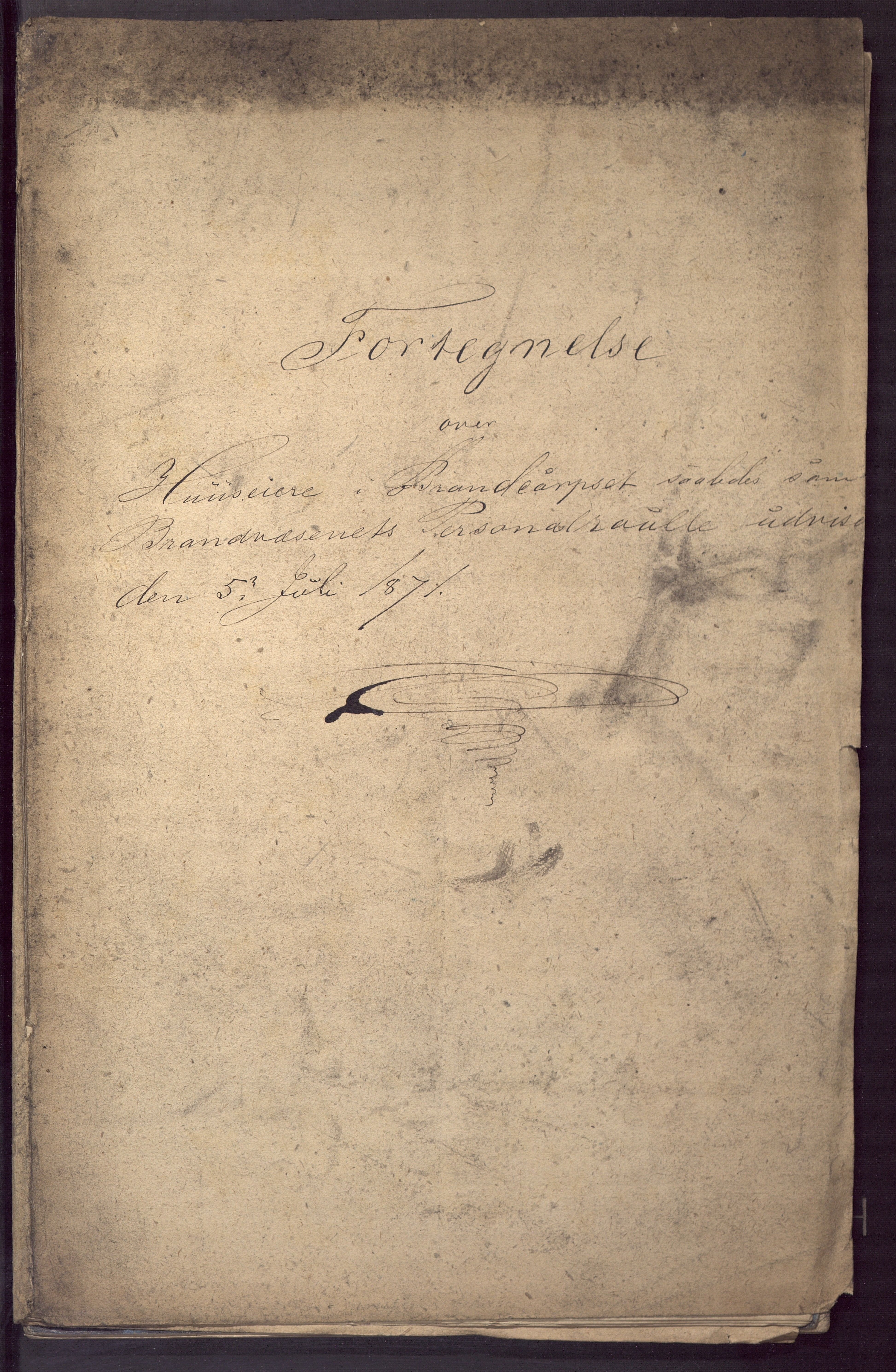BBA, Borgervæpningen i Bergen, G/Gf/L0001: Styrkelister, 1871
