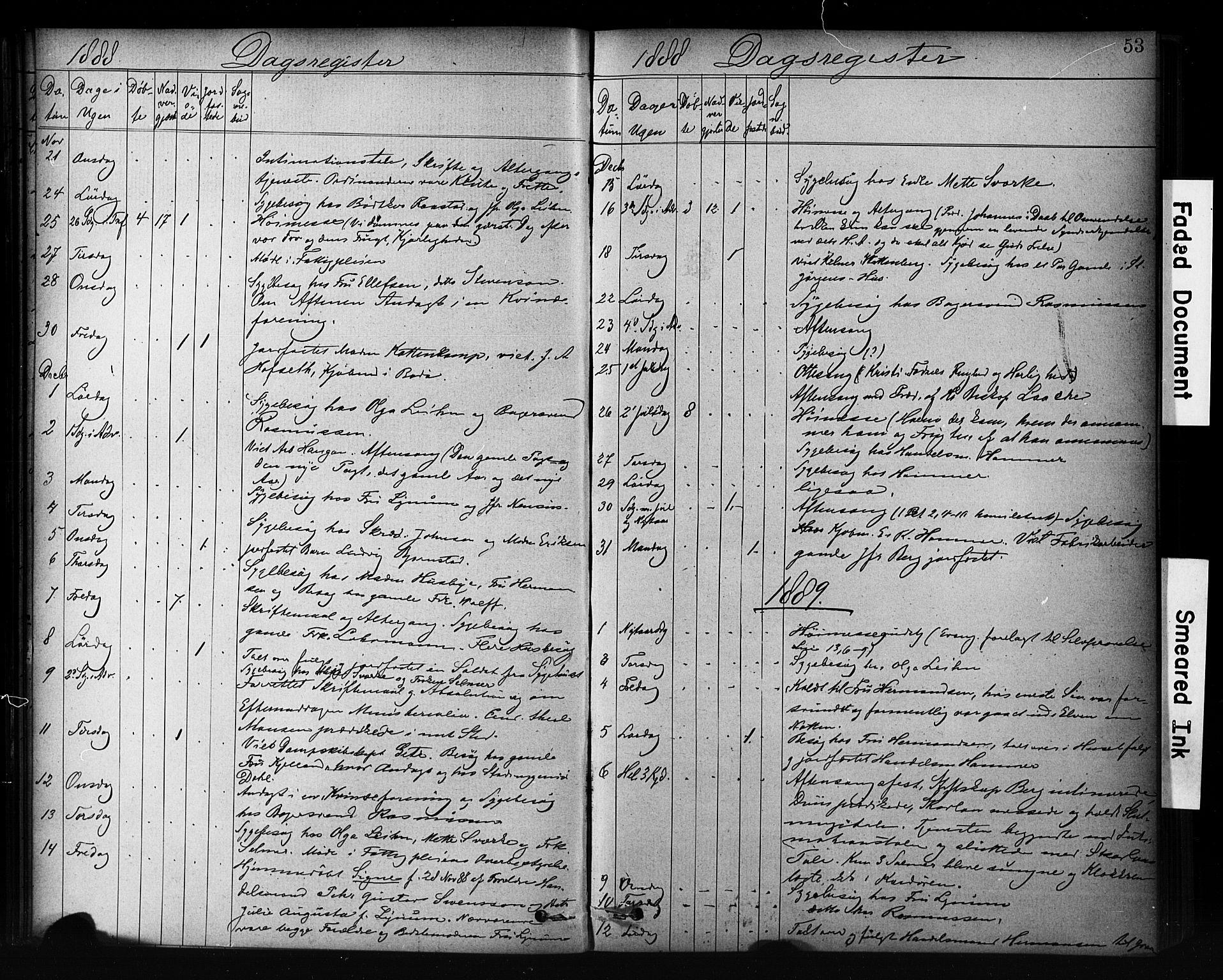 SAT, Ministerialprotokoller, klokkerbøker og fødselsregistre - Sør-Trøndelag, 601/L0071: Residerende kapellans bok nr. 601B04, 1882-1931, s. 53