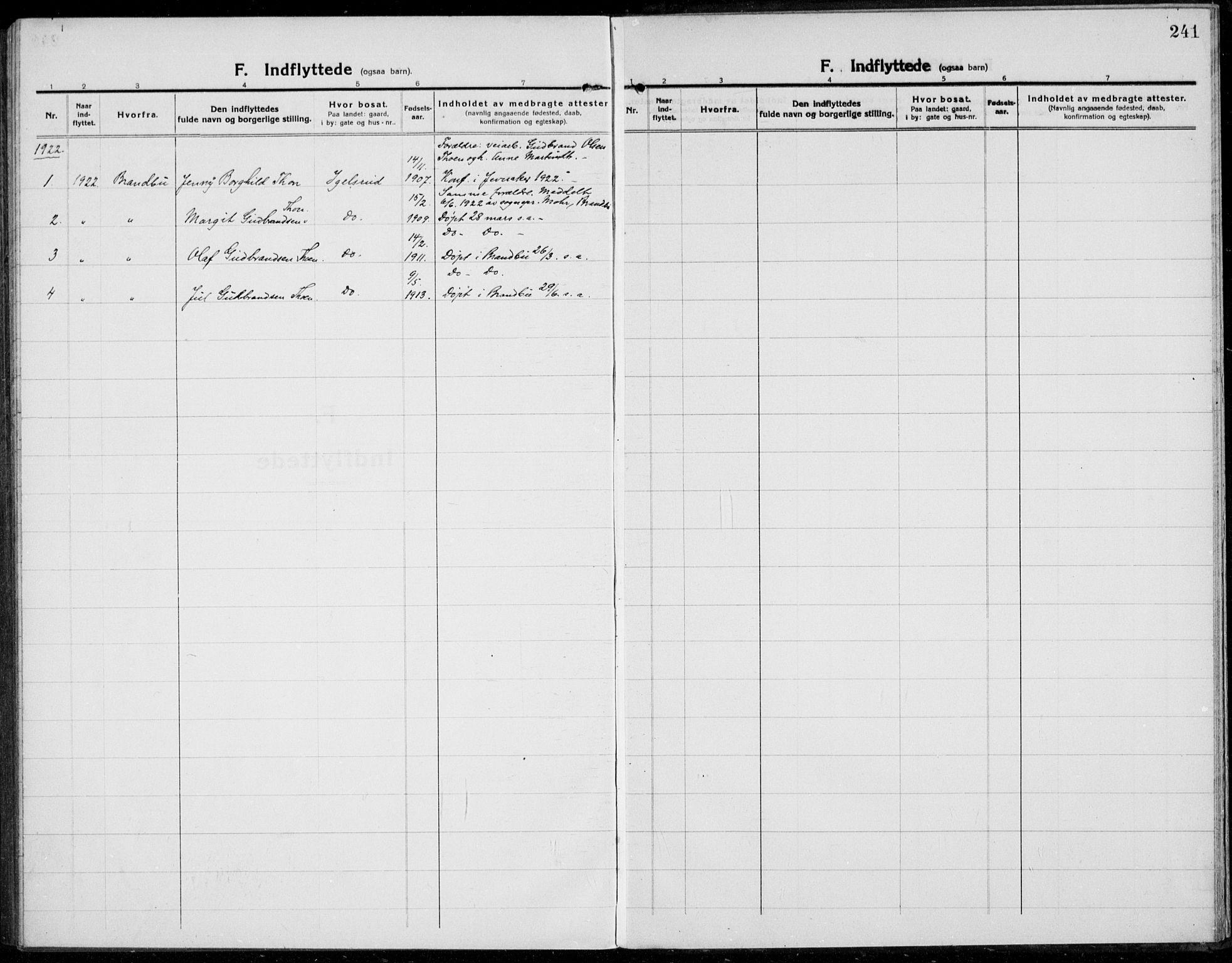 SAH, Jevnaker prestekontor, Ministerialbok nr. 12, 1914-1924, s. 241