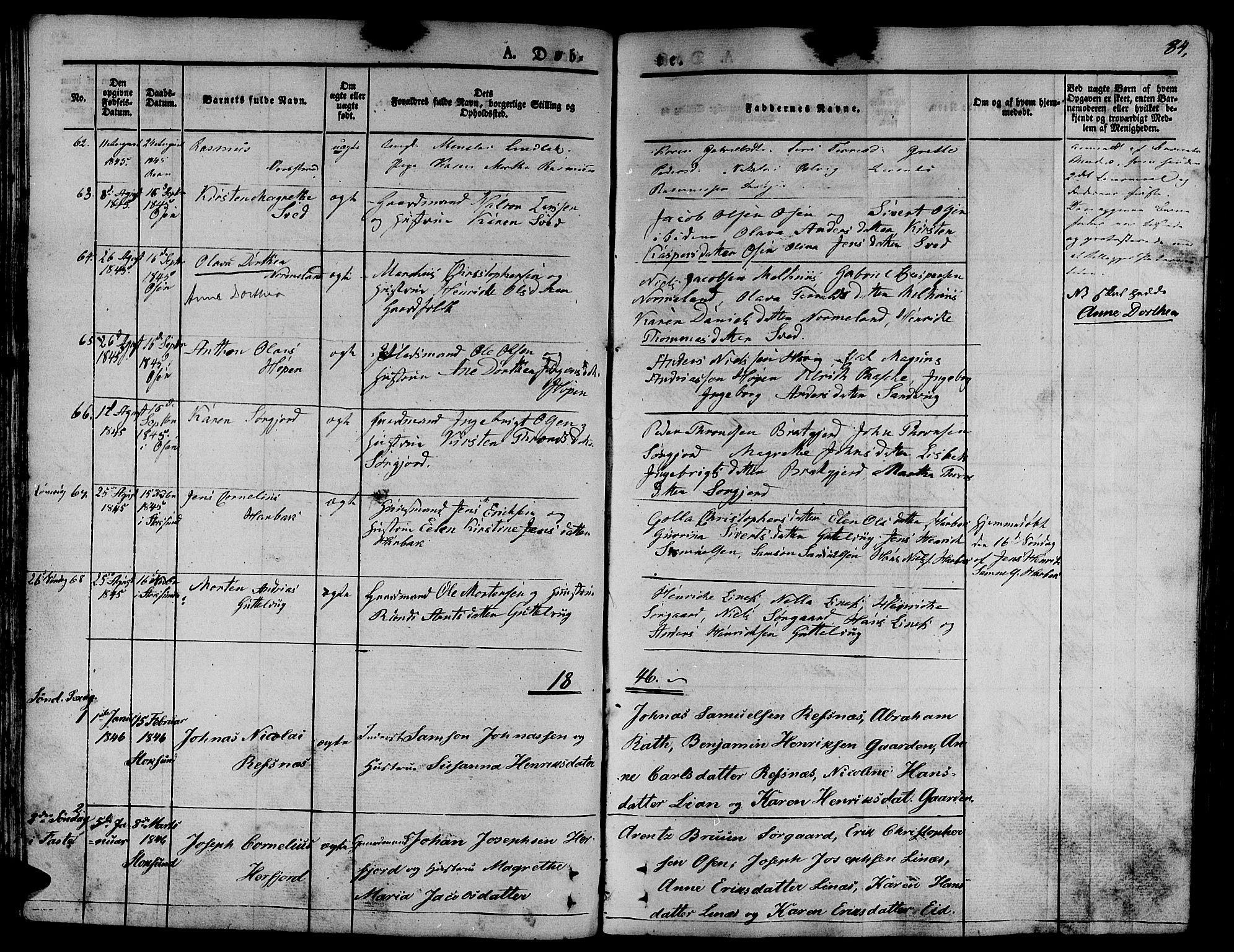SAT, Ministerialprotokoller, klokkerbøker og fødselsregistre - Sør-Trøndelag, 657/L0703: Ministerialbok nr. 657A04, 1831-1846, s. 84