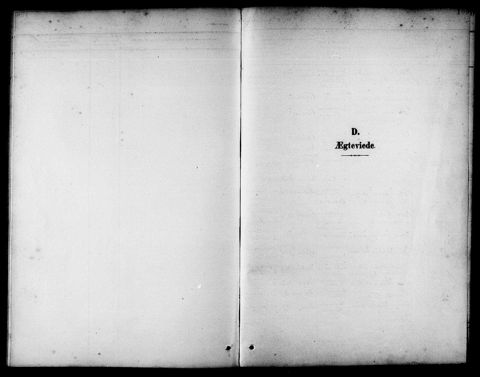 SAT, Ministerialprotokoller, klokkerbøker og fødselsregistre - Nord-Trøndelag, 741/L0401: Klokkerbok nr. 741C02, 1899-1911, s. 109