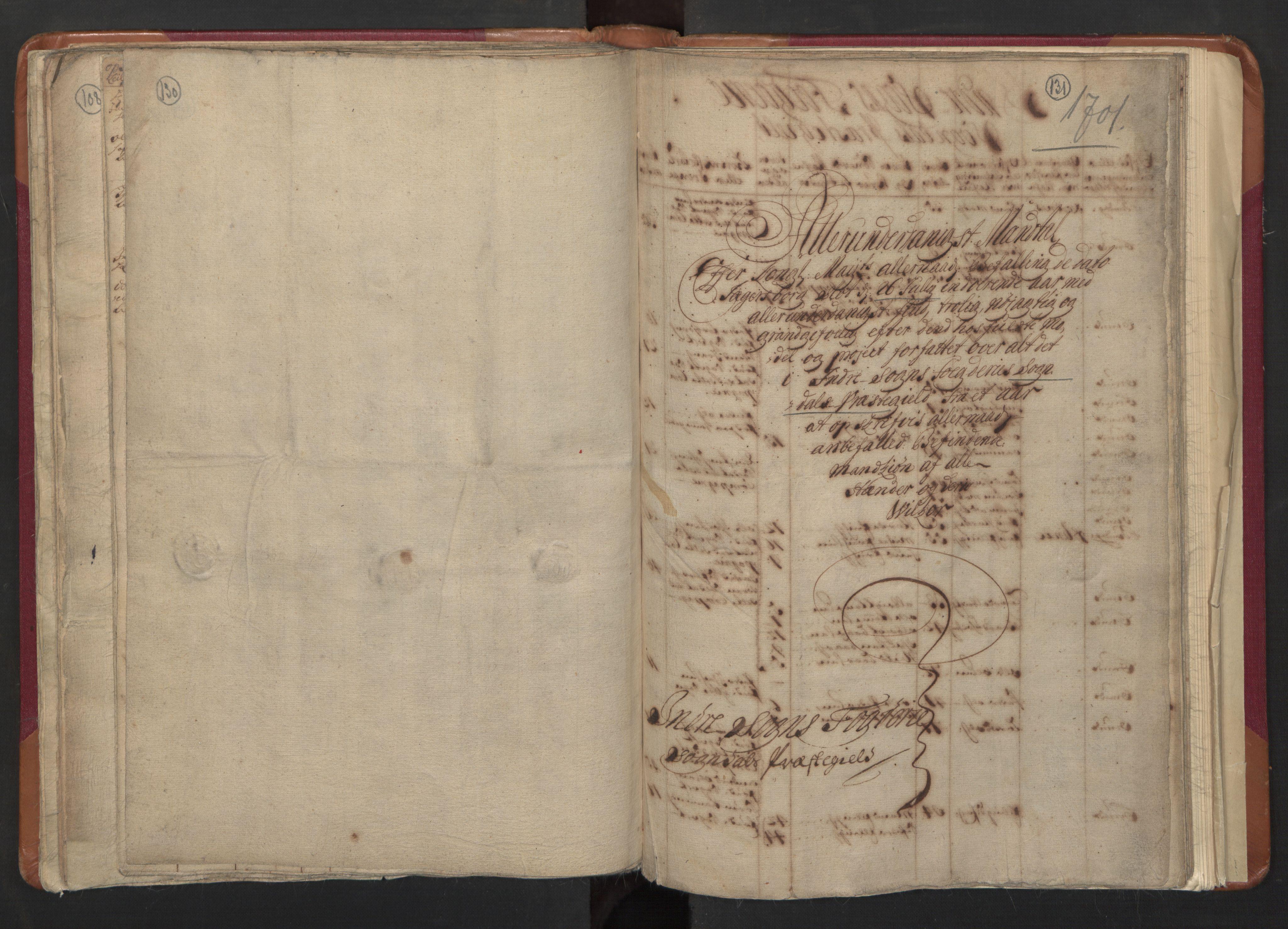 RA, Manntallet 1701, nr. 8: Ytre Sogn fogderi og Indre Sogn fogderi, 1701, s. 130-131