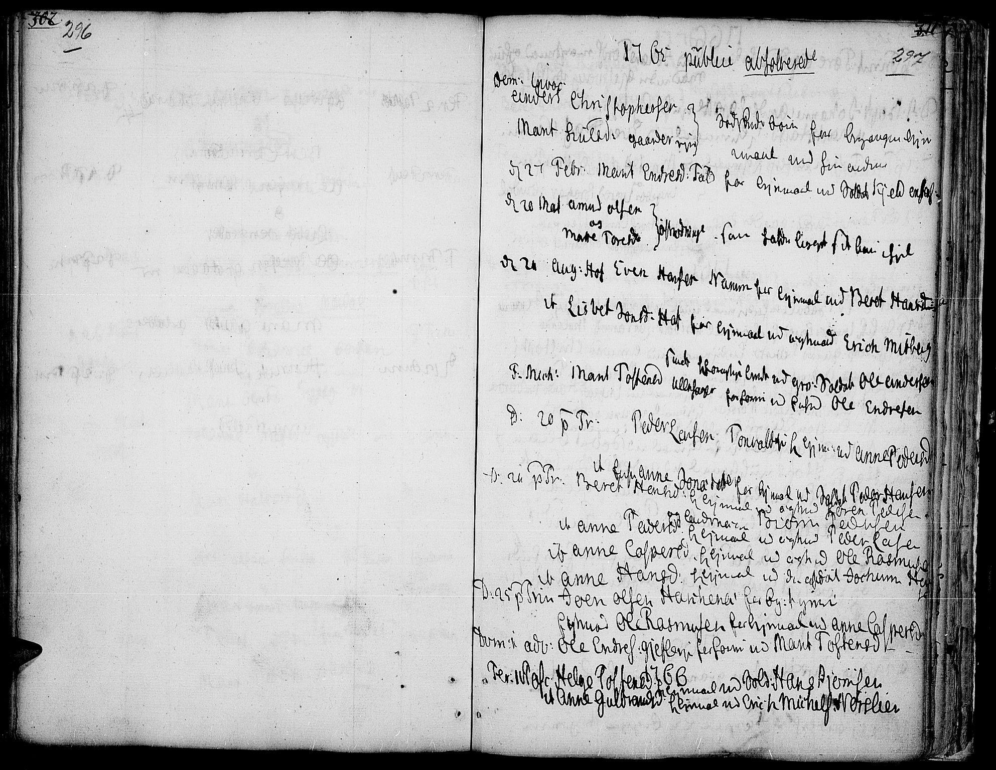 SAH, Land prestekontor, Ministerialbok nr. 5, 1765-1784, s. 296-297