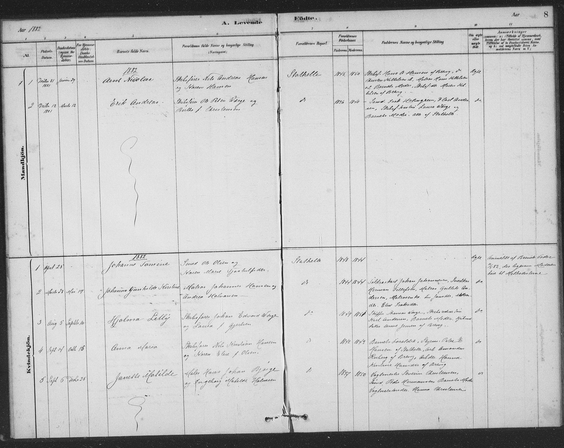 SAKO, Bamble kirkebøker, F/Fb/L0001: Ministerialbok nr. II 1, 1878-1899, s. 8