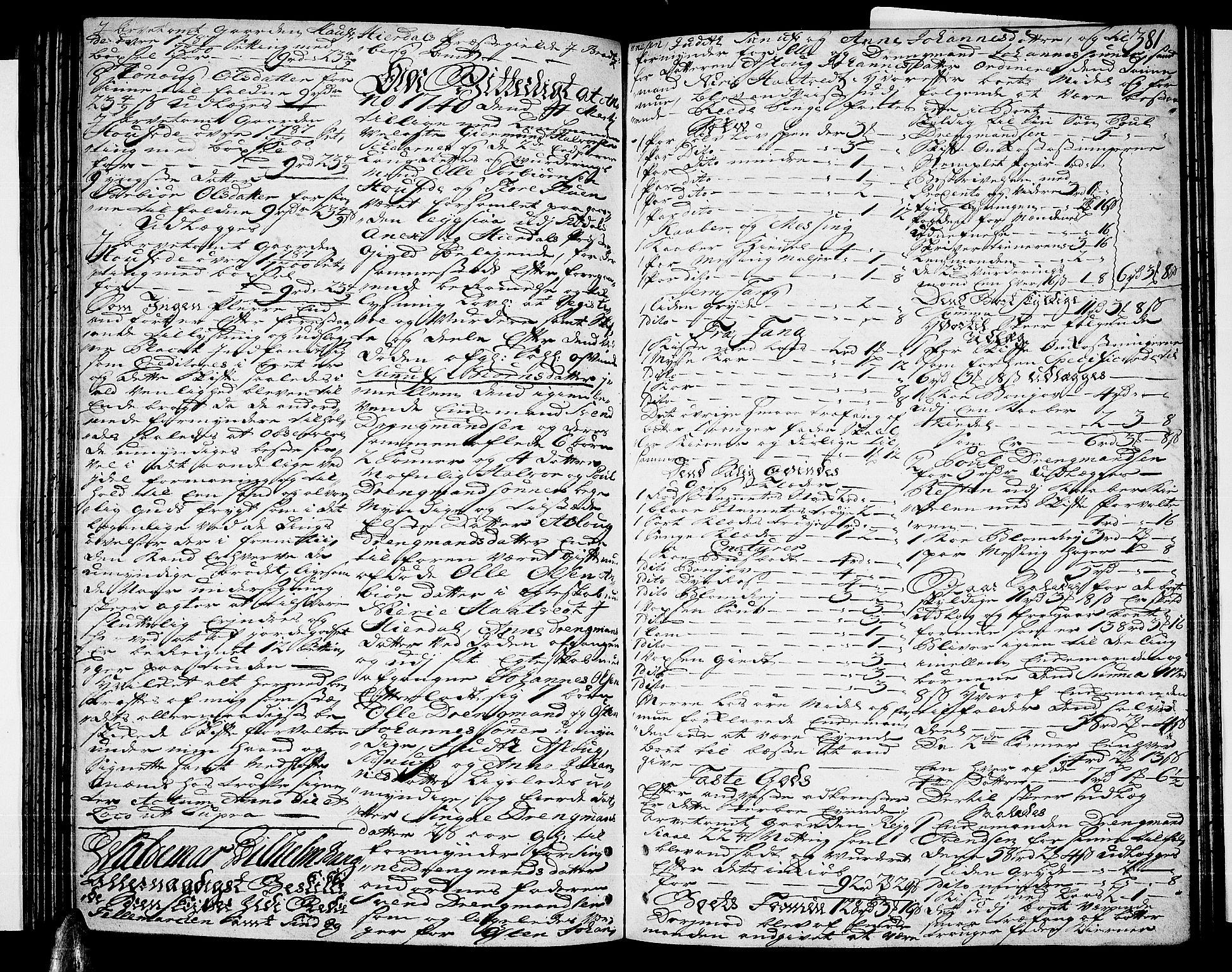 SAKO, Nedre Telemark sorenskriveri, H/Hb/Hba/L0011: Skifteprotokoll, 1736-1740, s. 380b-381a
