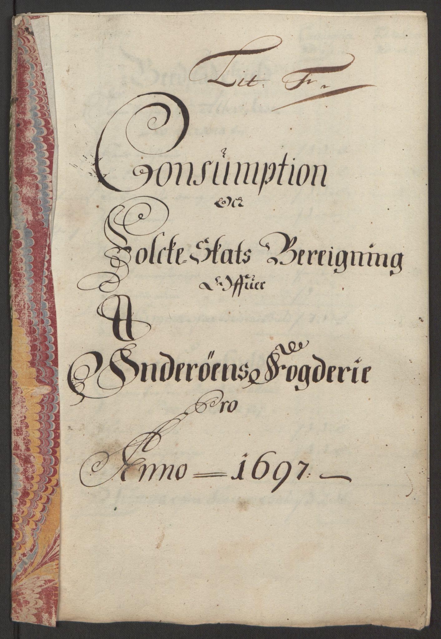 RA, Rentekammeret inntil 1814, Reviderte regnskaper, Fogderegnskap, R63/L4309: Fogderegnskap Inderøy, 1695-1697, s. 434