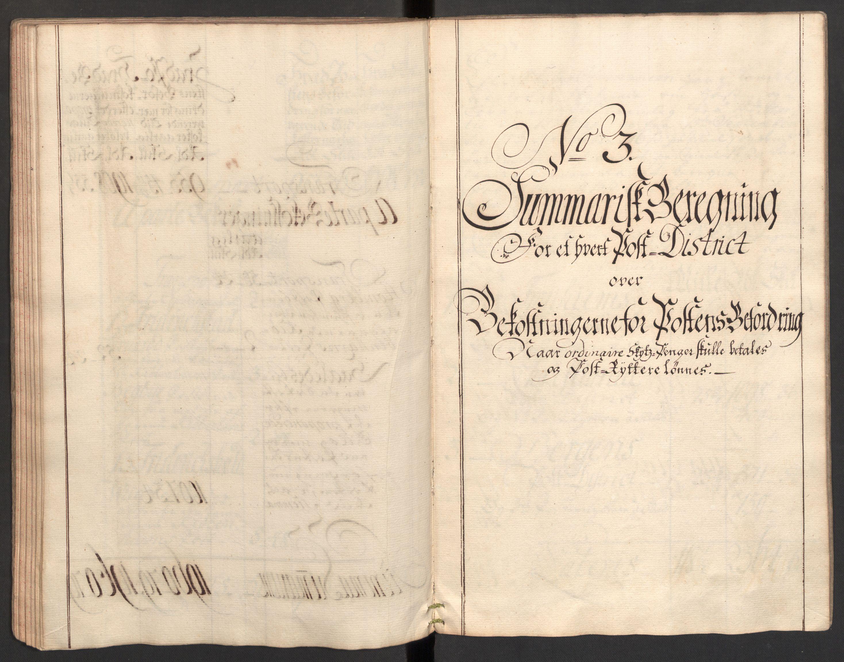 RA, Generalpostdireksjonen 1719-1814, E/L0025: Fortegnelse og forklaringer om postturene i Norge, 1752-1754, s. 47