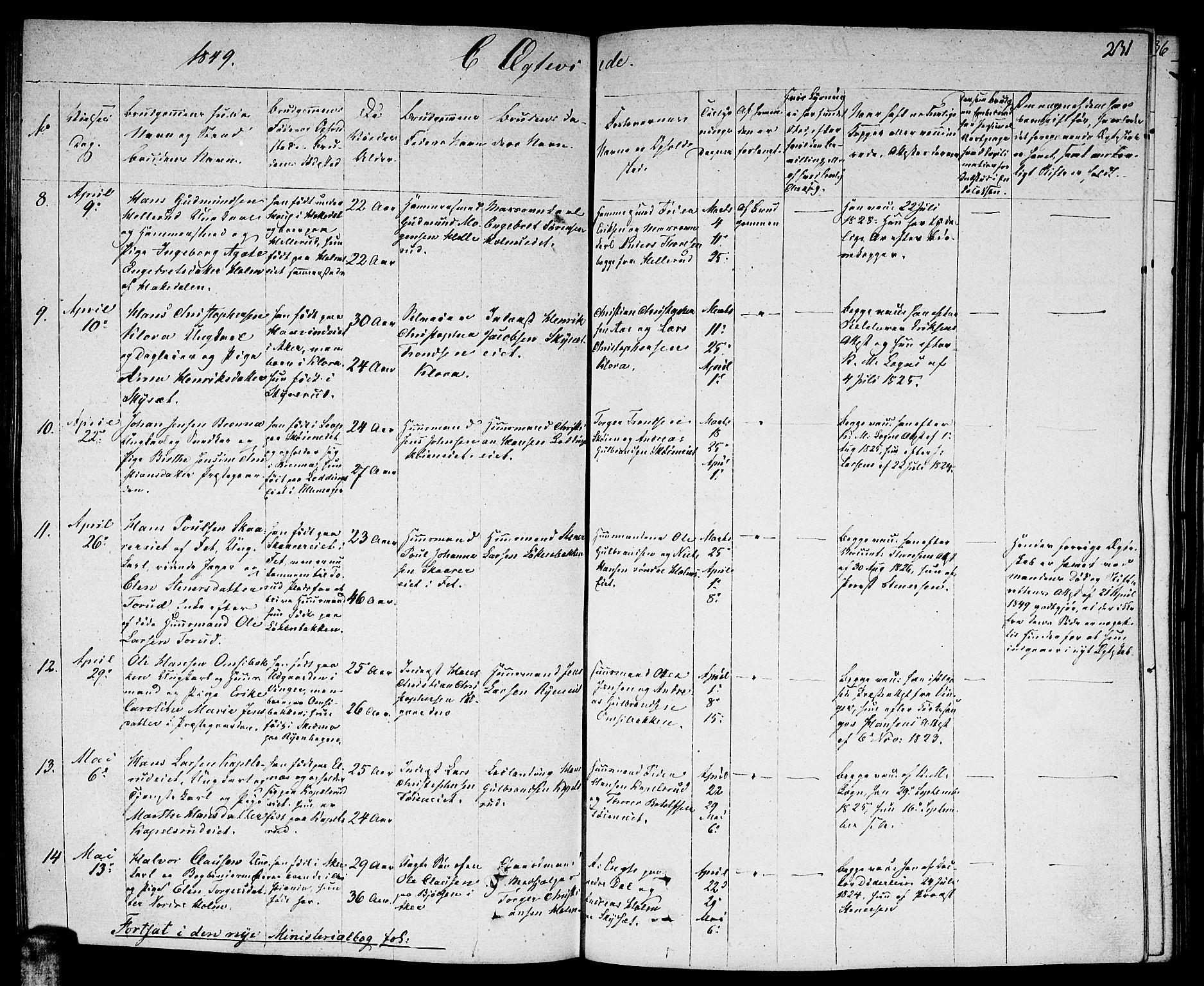 SAO, Nittedal prestekontor Kirkebøker, F/Fa/L0004: Ministerialbok nr. I 4, 1836-1849, s. 231