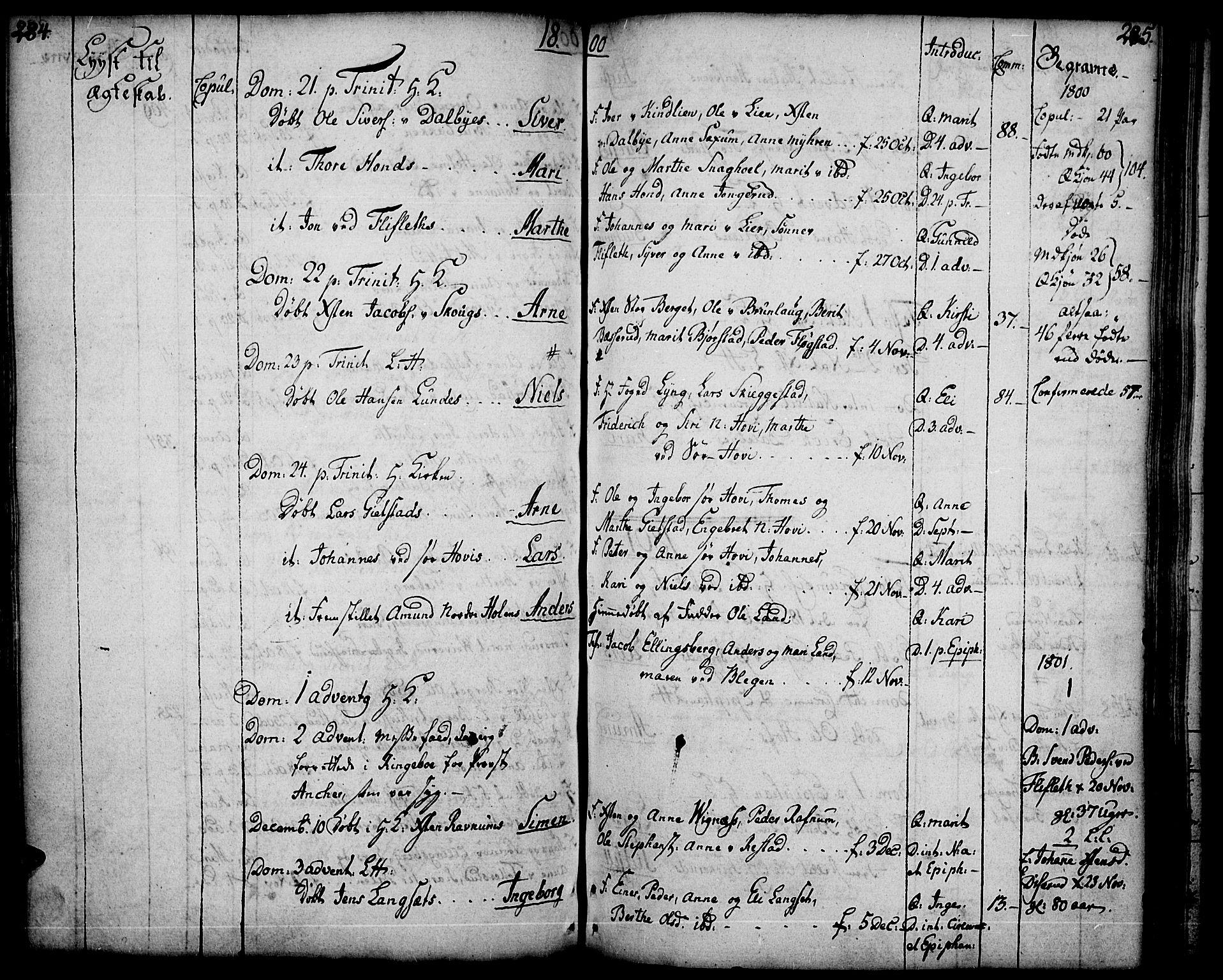 SAH, Fåberg prestekontor, Ministerialbok nr. 2, 1775-1818, s. 284-285