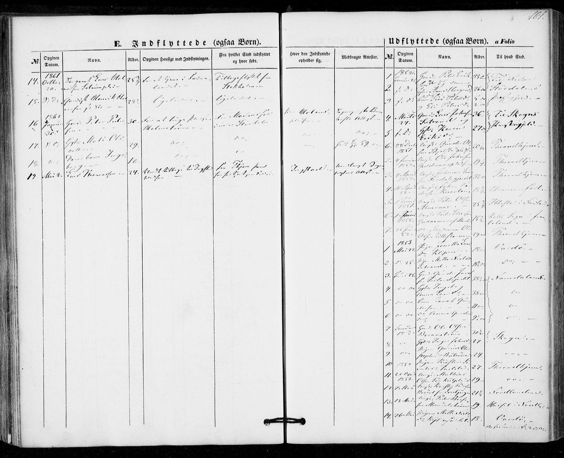 SAT, Ministerialprotokoller, klokkerbøker og fødselsregistre - Nord-Trøndelag, 703/L0028: Ministerialbok nr. 703A01, 1850-1862, s. 161