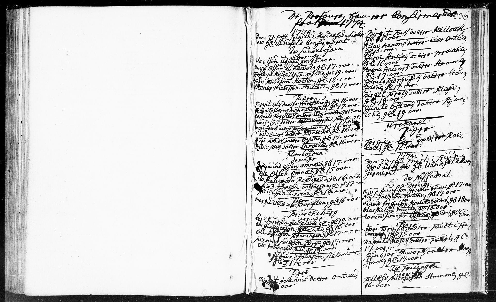 SAKO, Kviteseid kirkebøker, F/Fa/L0002: Ministerialbok nr. I 2, 1773-1786, s. 236