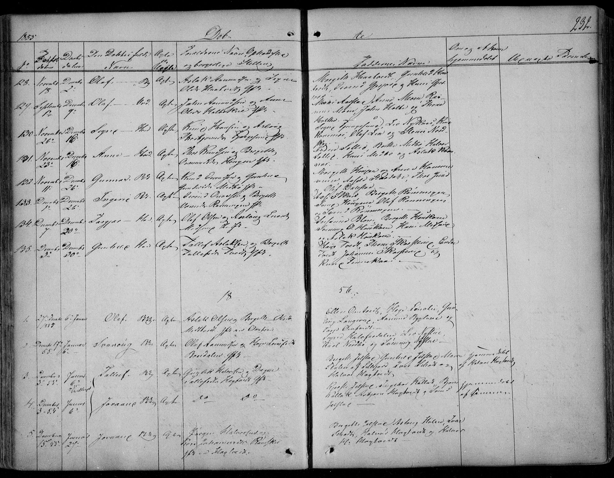 SAKO, Kviteseid kirkebøker, F/Fa/L0006: Ministerialbok nr. I 6, 1836-1858, s. 232