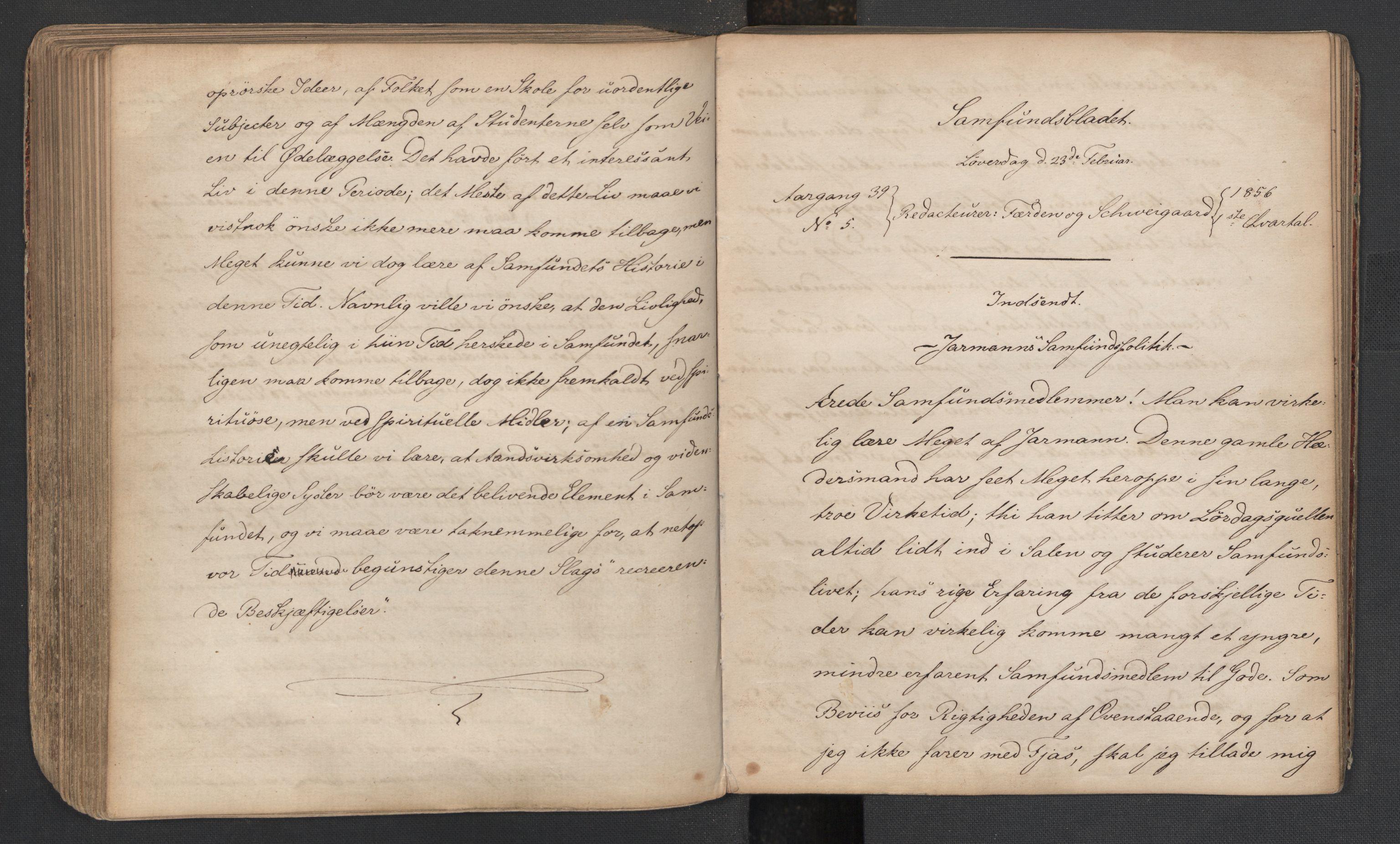RA, Det Norske Studentersamfund, X/Xa/L0005, 1855-1856, s. 158