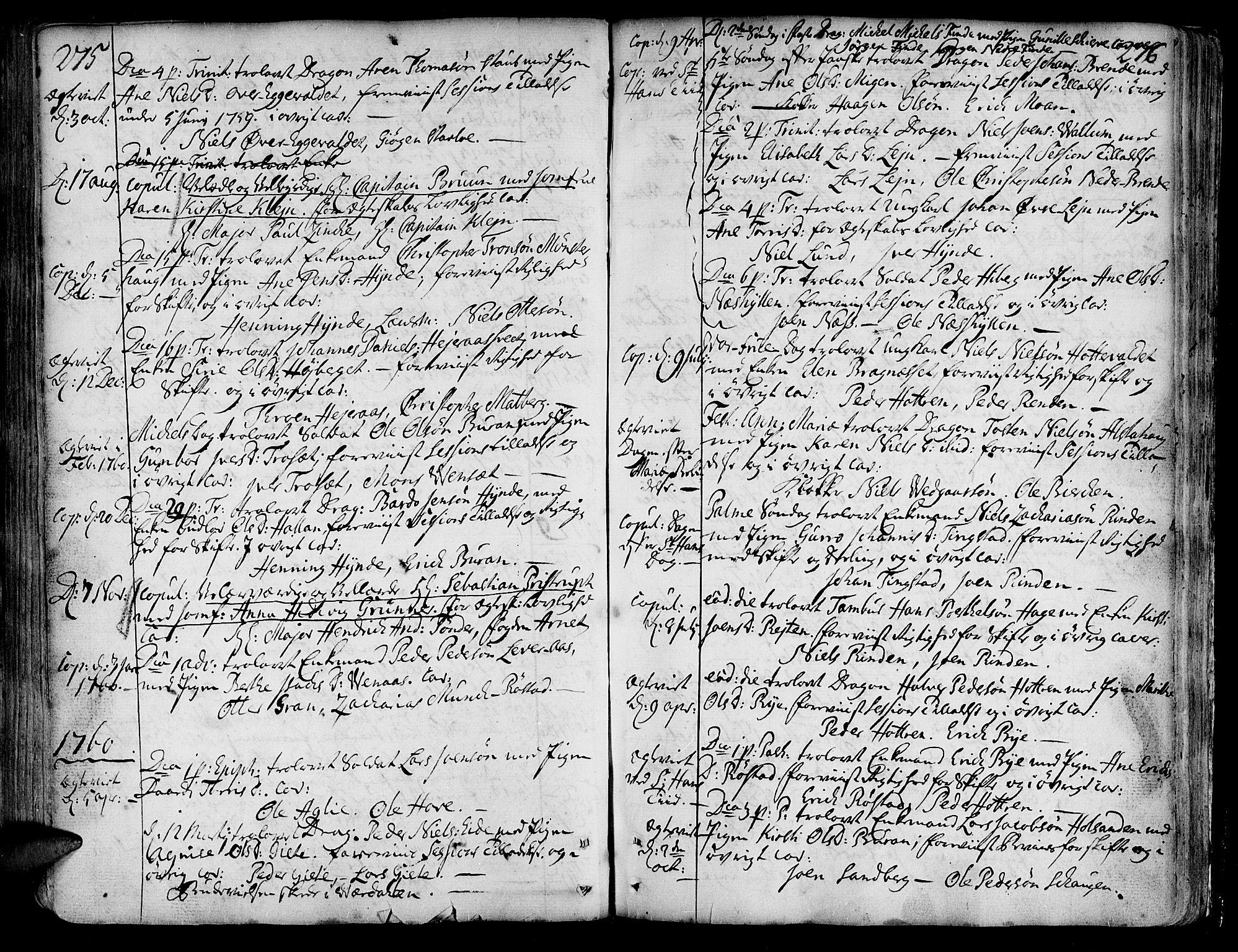 SAT, Ministerialprotokoller, klokkerbøker og fødselsregistre - Nord-Trøndelag, 717/L0141: Ministerialbok nr. 717A01, 1747-1803, s. 275-276