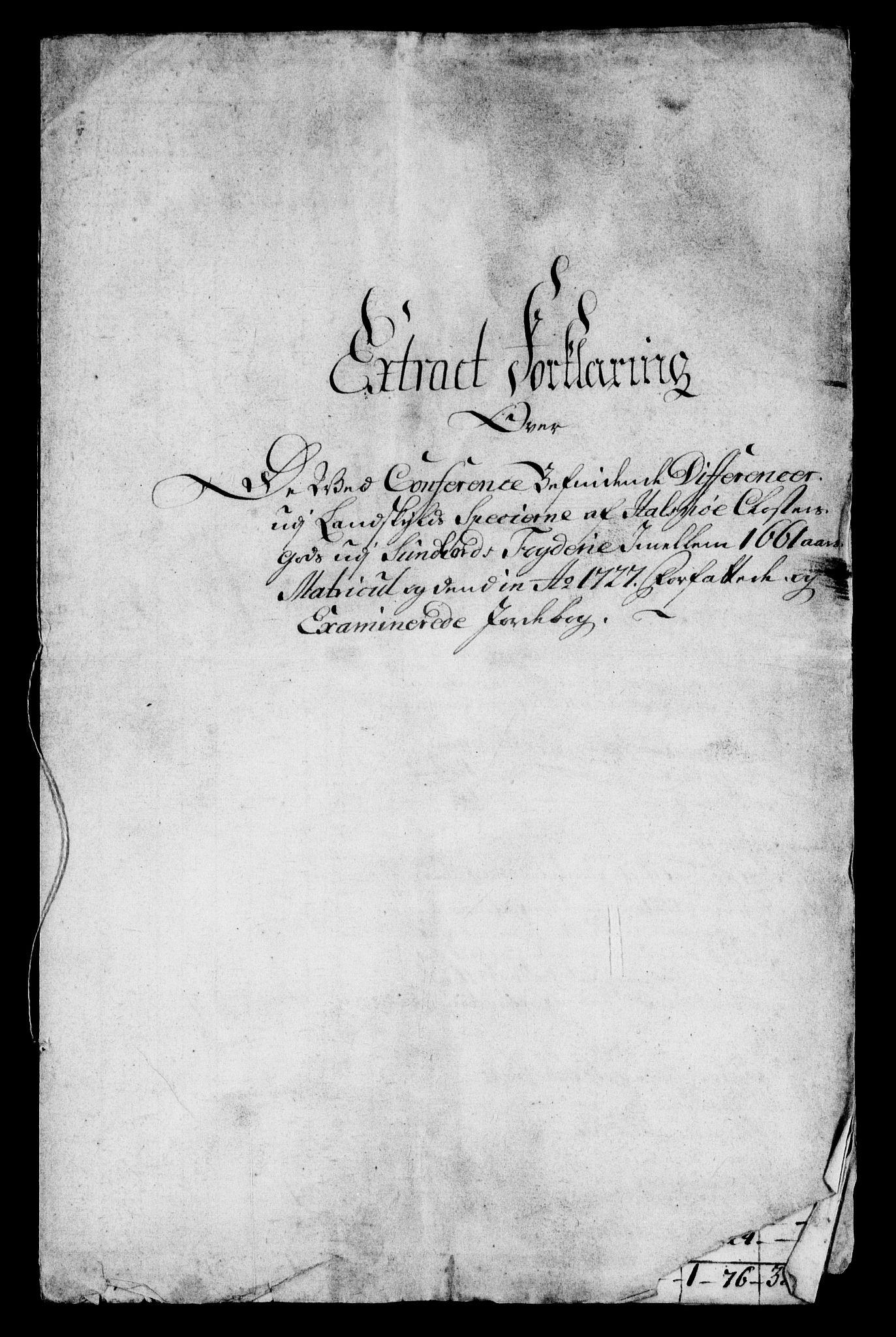 RA, Rentekammeret inntil 1814, Realistisk ordnet avdeling, On/L0005: [Jj 6]: Forskjellige dokumenter om Halsnøy klosters gods, 1697-1770, s. 243
