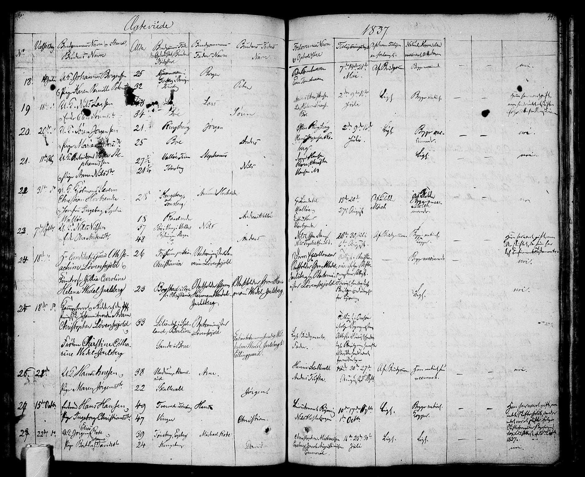 SAKO, Sem kirkebøker, F/Fa/L0005: Ministerialbok nr. I 5, 1825-1842, s. 446-447