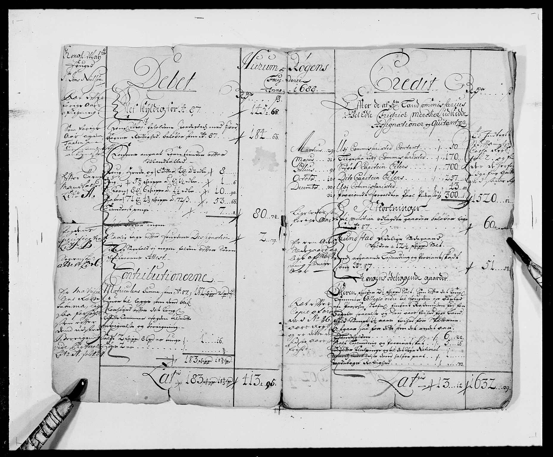RA, Rentekammeret inntil 1814, Reviderte regnskaper, Fogderegnskap, R29/L1693: Fogderegnskap Hurum og Røyken, 1688-1693, s. 2