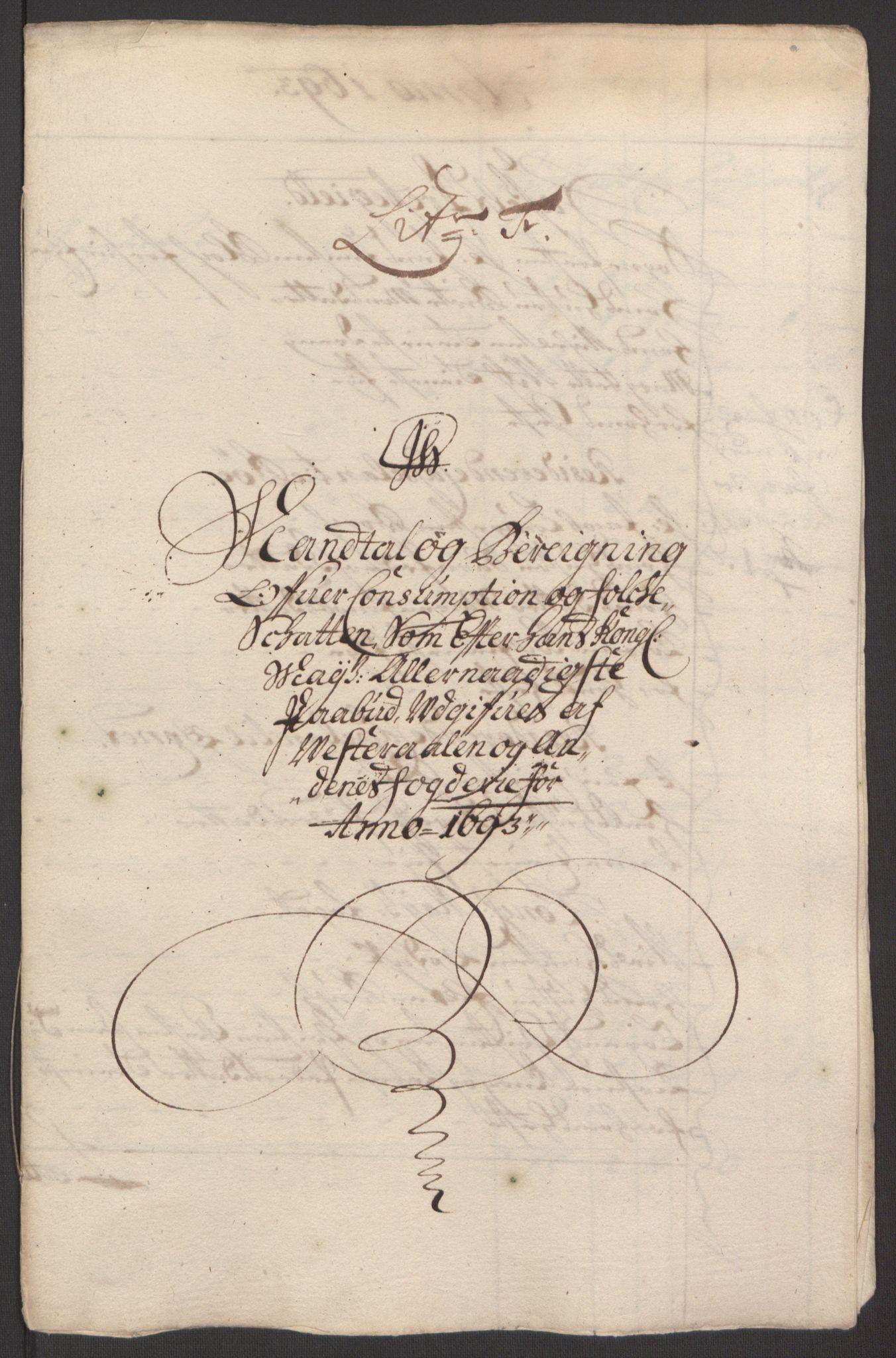 RA, Rentekammeret inntil 1814, Reviderte regnskaper, Fogderegnskap, R67/L4676: Fogderegnskap Vesterålen, Andenes og Lofoten, 1691-1693, s. 284