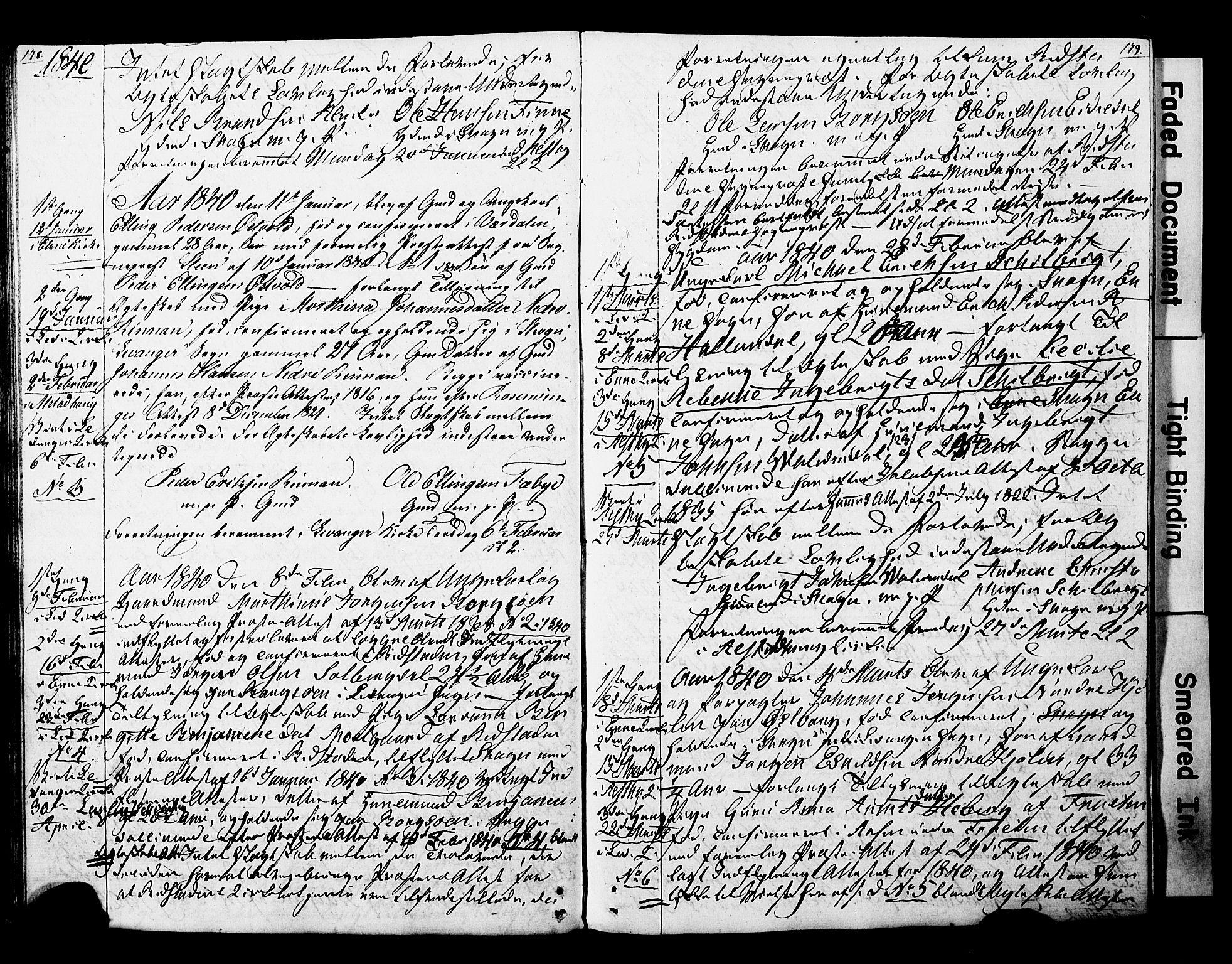 SAT, Ministerialprotokoller, klokkerbøker og fødselsregistre - Nord-Trøndelag, 717/L0160: Forlovererklæringer nr. 717A10, 1828-1850, s. 178-179