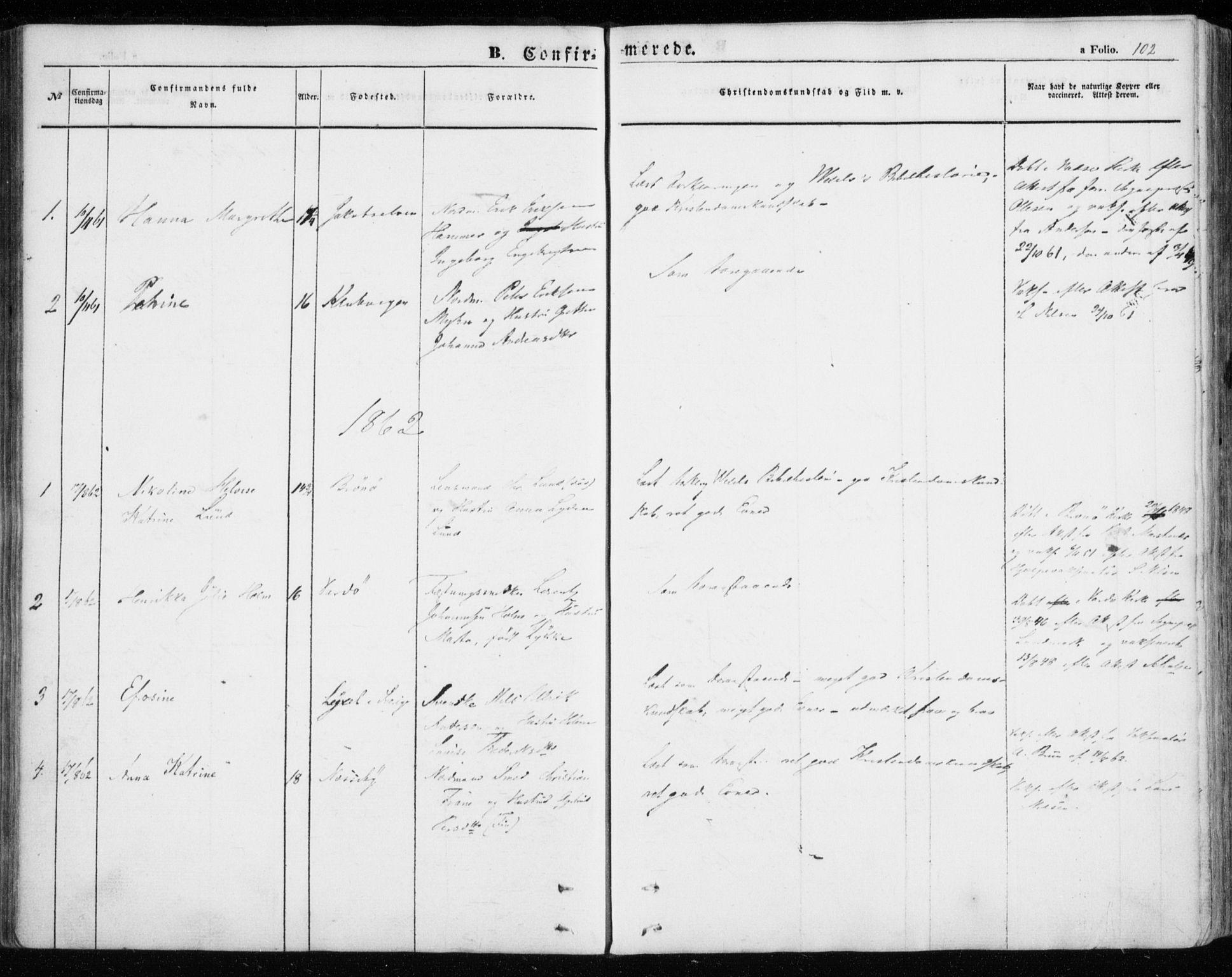 SATØ, Nesseby sokneprestkontor, H/Ha/L0002kirke: Ministerialbok nr. 2, 1856-1864, s. 102