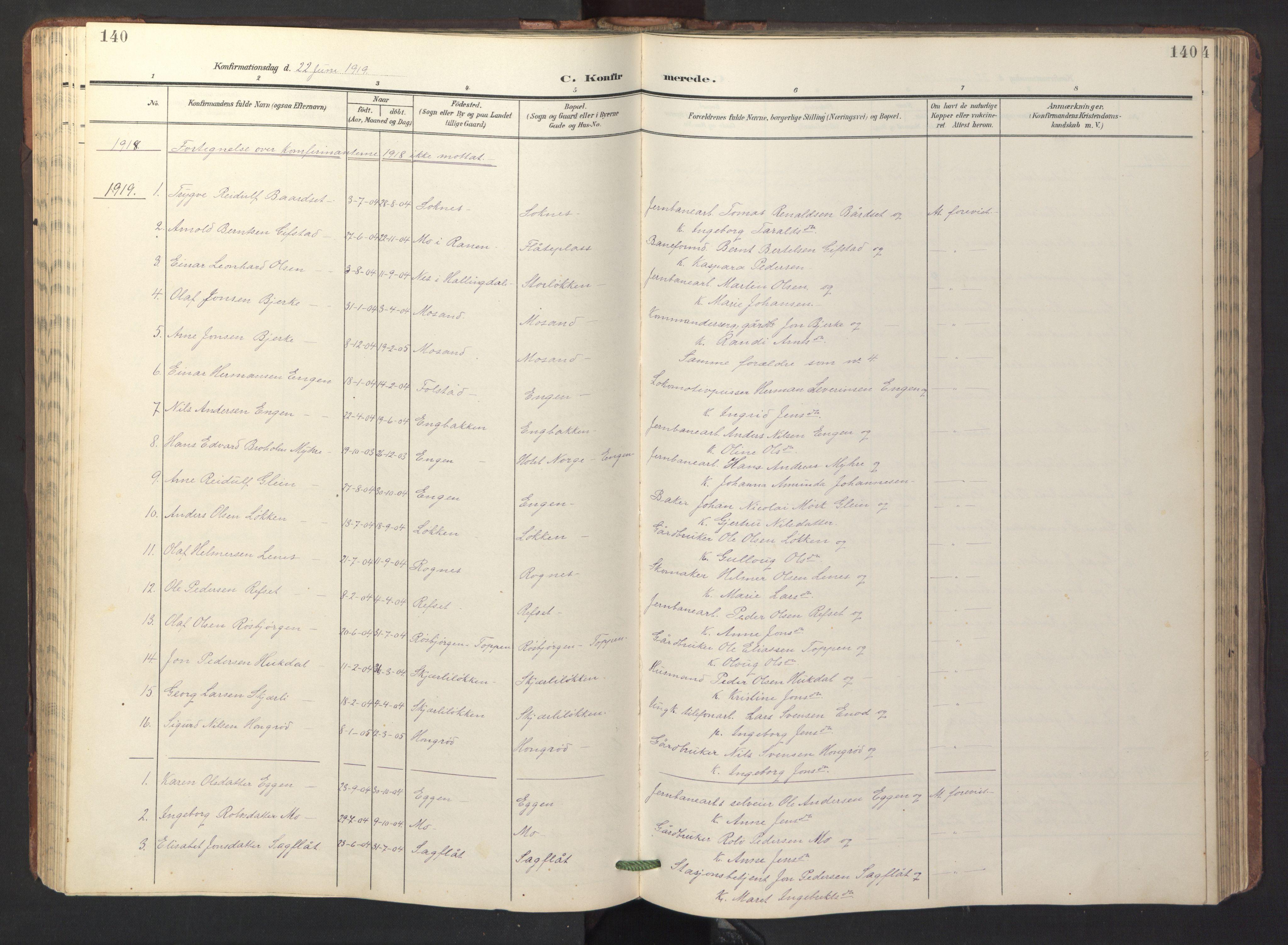 SAT, Ministerialprotokoller, klokkerbøker og fødselsregistre - Sør-Trøndelag, 687/L1019: Klokkerbok nr. 687C03, 1904-1931, s. 140