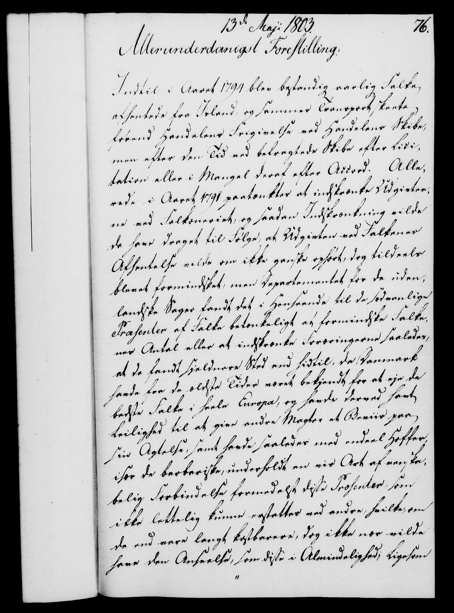 RA, Rentekammeret, Kammerkanselliet, G/Gf/Gfa/L0085: Norsk relasjons- og resolusjonsprotokoll (merket RK 52.85), 1803, s. 466