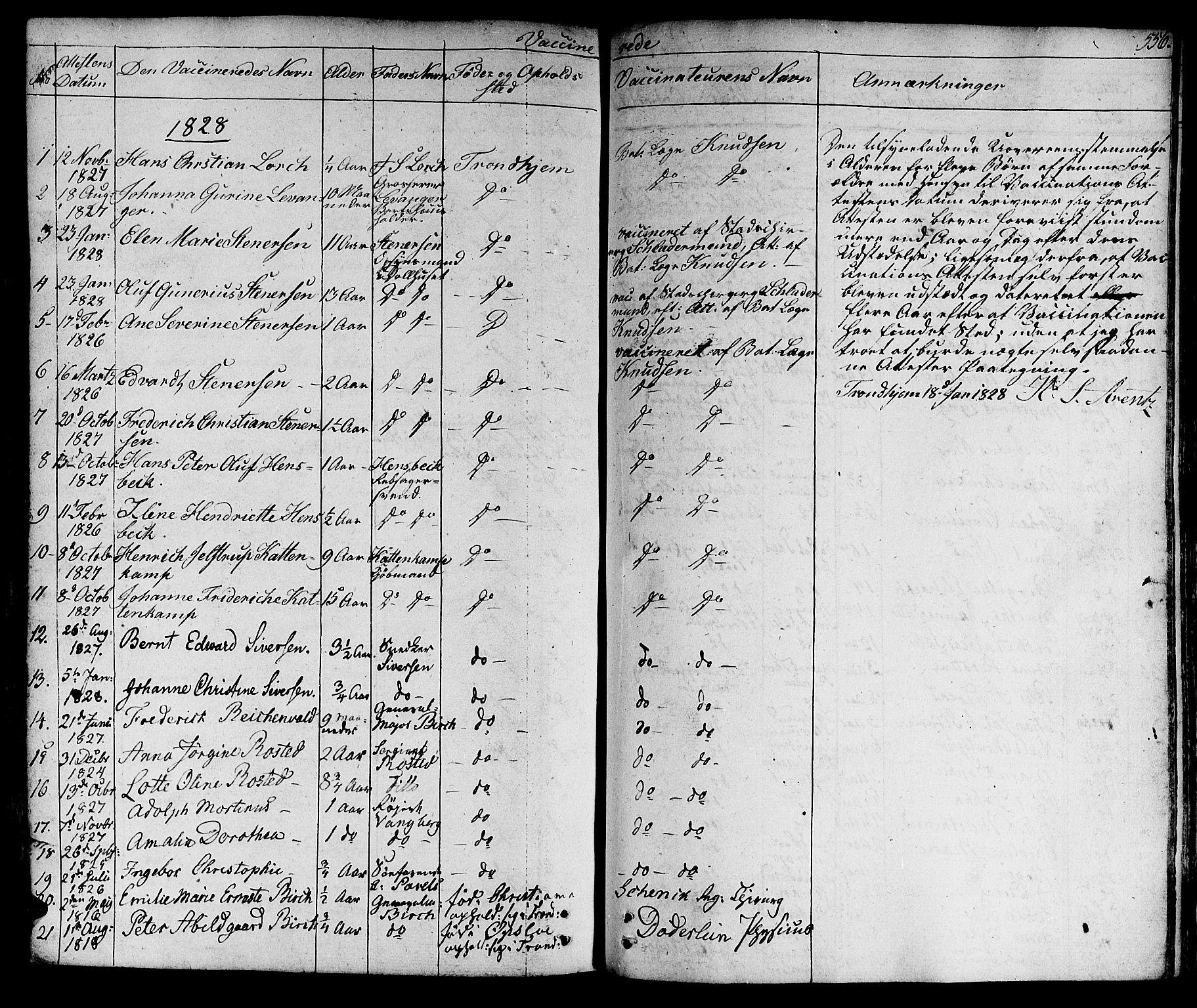 SAT, Ministerialprotokoller, klokkerbøker og fødselsregistre - Sør-Trøndelag, 601/L0045: Ministerialbok nr. 601A13, 1821-1831, s. 556