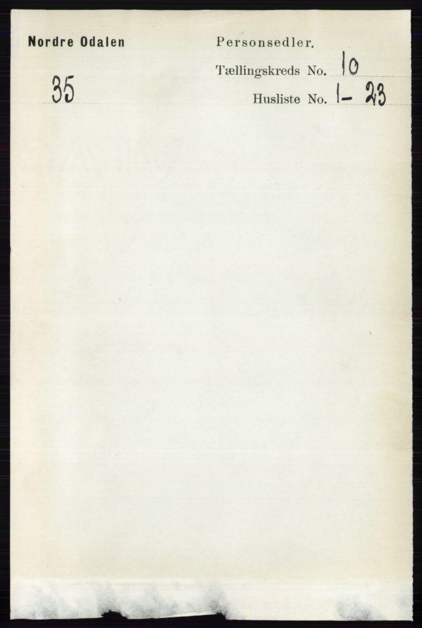 RA, Folketelling 1891 for 0418 Nord-Odal herred, 1891, s. 4508