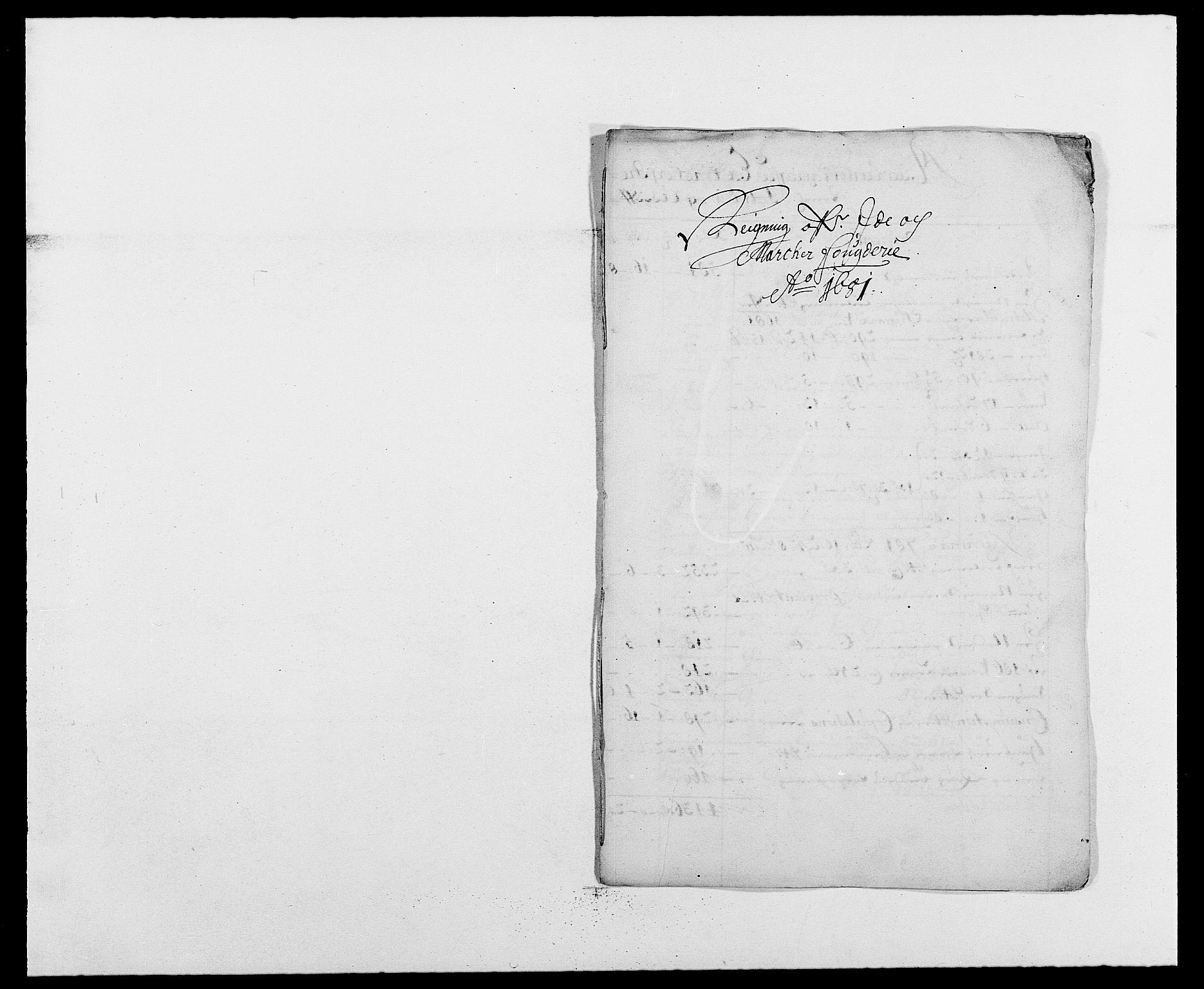 RA, Rentekammeret inntil 1814, Reviderte regnskaper, Fogderegnskap, R01/L0003: Fogderegnskap Idd og Marker, 1678-1681, s. 1