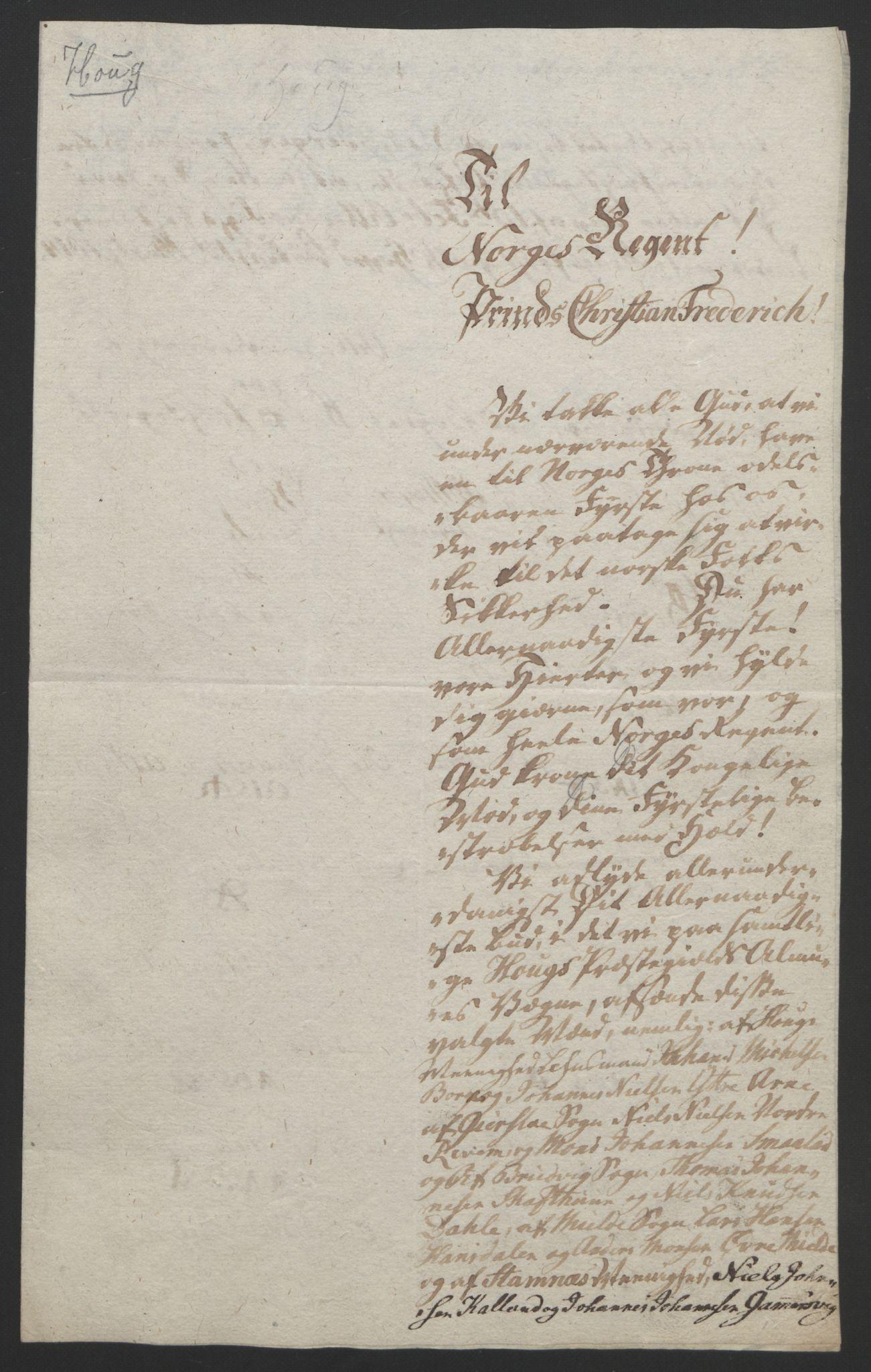 RA, Statsrådssekretariatet, D/Db/L0008: Fullmakter for Eidsvollsrepresentantene i 1814. , 1814, s. 281