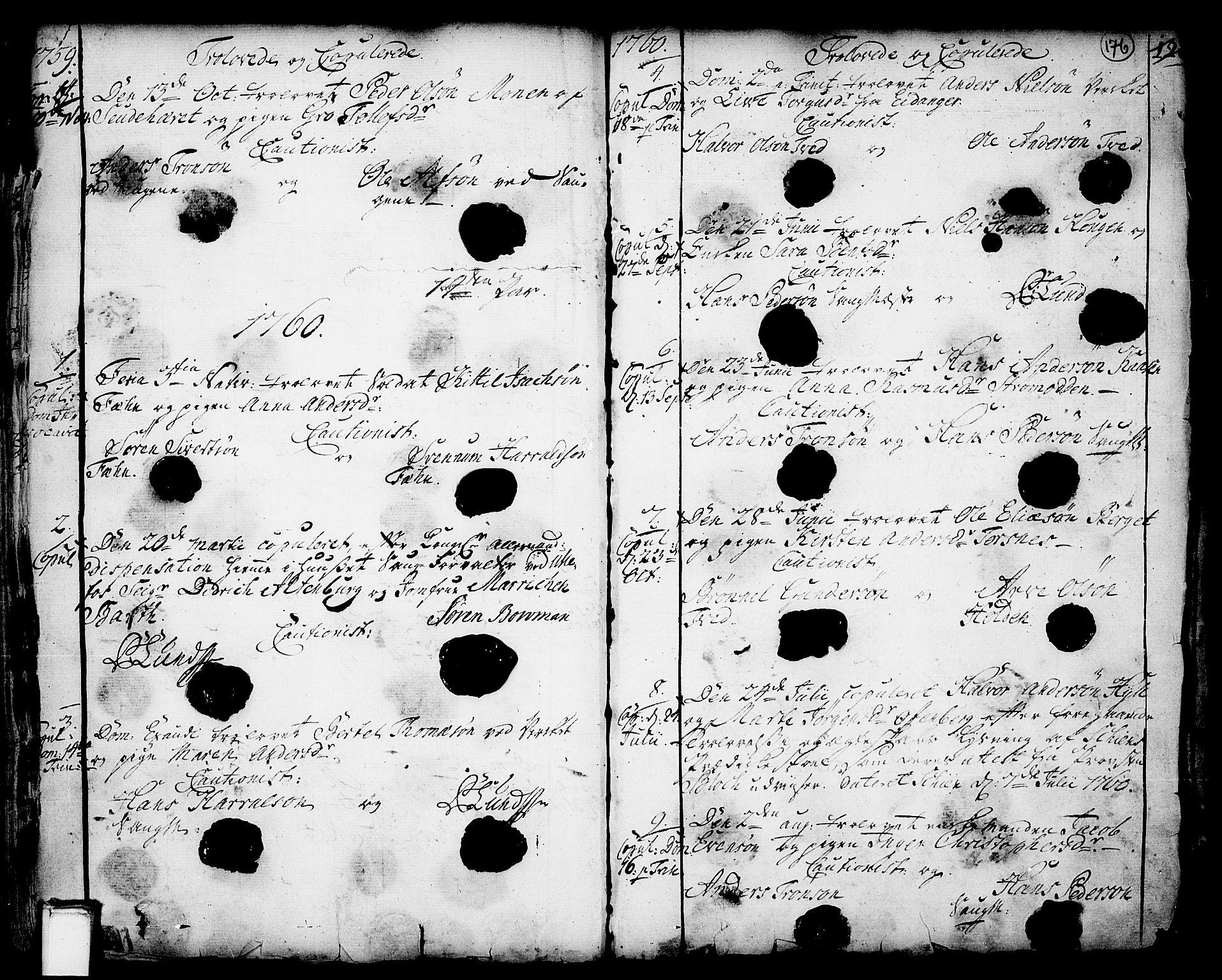 SAKO, Holla kirkebøker, F/Fa/L0001: Ministerialbok nr. 1, 1717-1779, s. 176