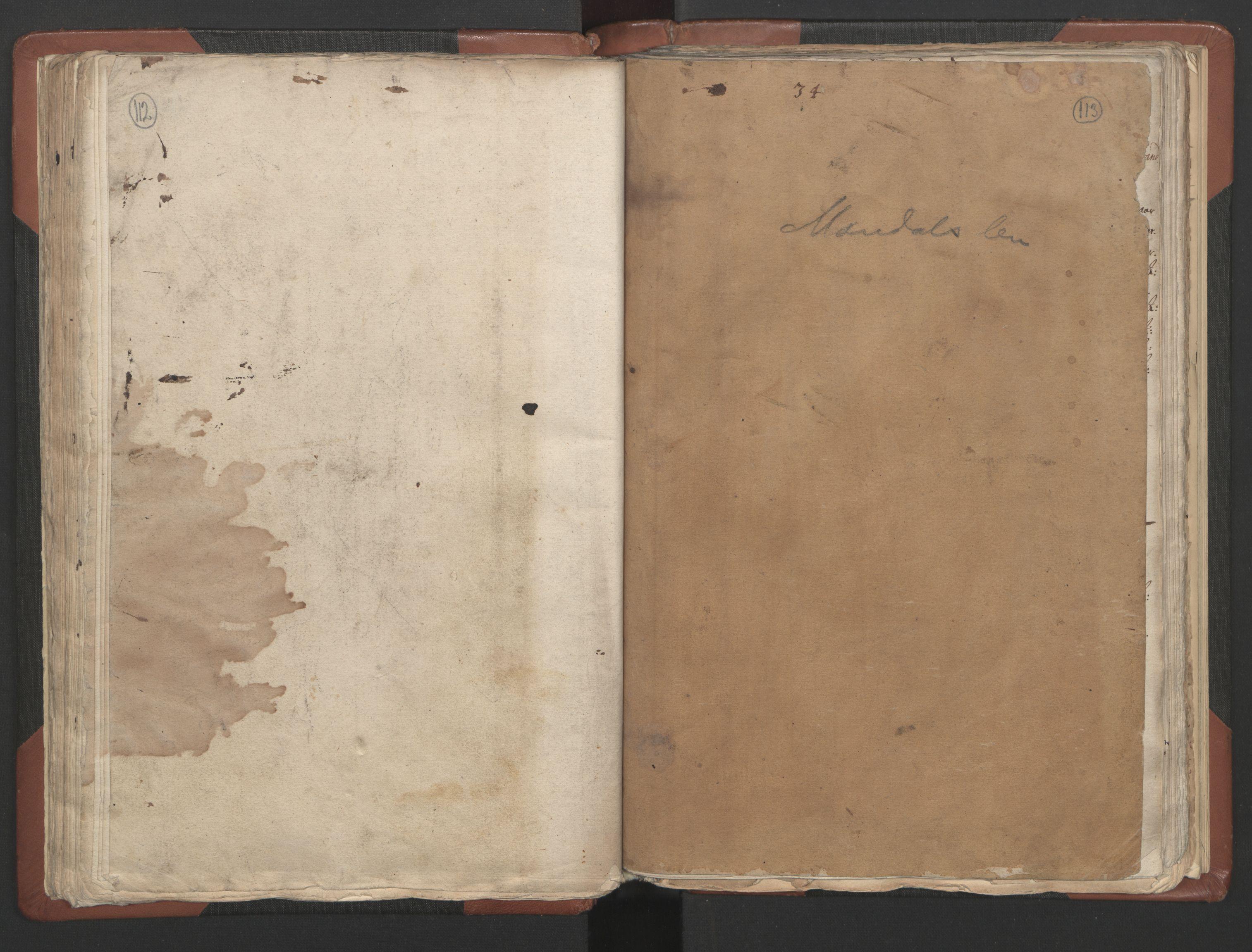 RA, Fogdenes og sorenskrivernes manntall 1664-1666, nr. 9: Mandal len, 1664-1666, s. 112-113