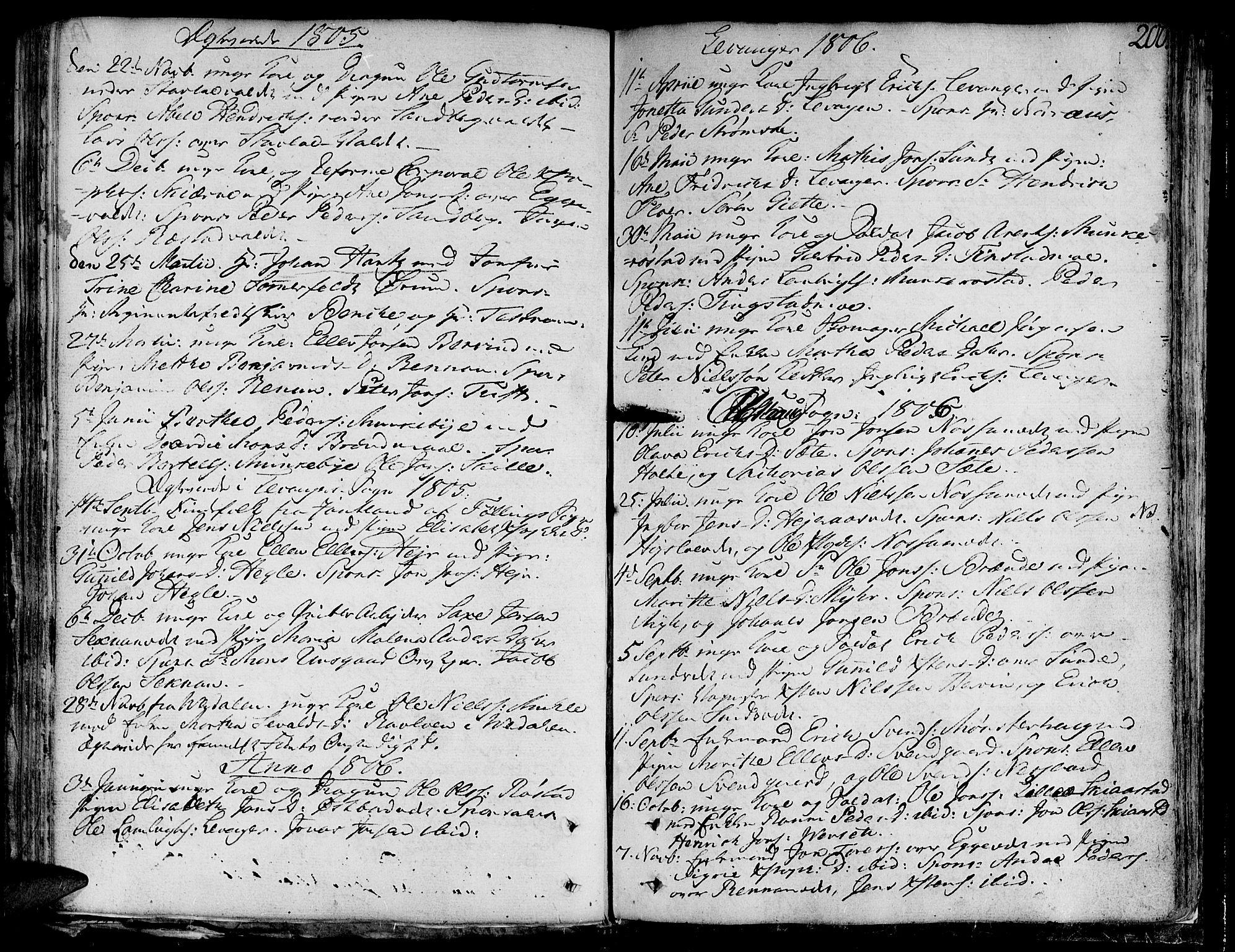 SAT, Ministerialprotokoller, klokkerbøker og fødselsregistre - Nord-Trøndelag, 717/L0142: Ministerialbok nr. 717A02 /1, 1783-1809, s. 200