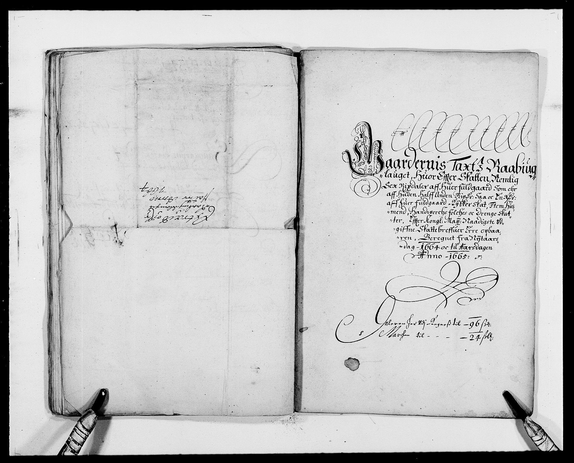 RA, Rentekammeret inntil 1814, Reviderte regnskaper, Fogderegnskap, R40/L2431: Fogderegnskap Råbyggelag, 1664-1668, s. 43