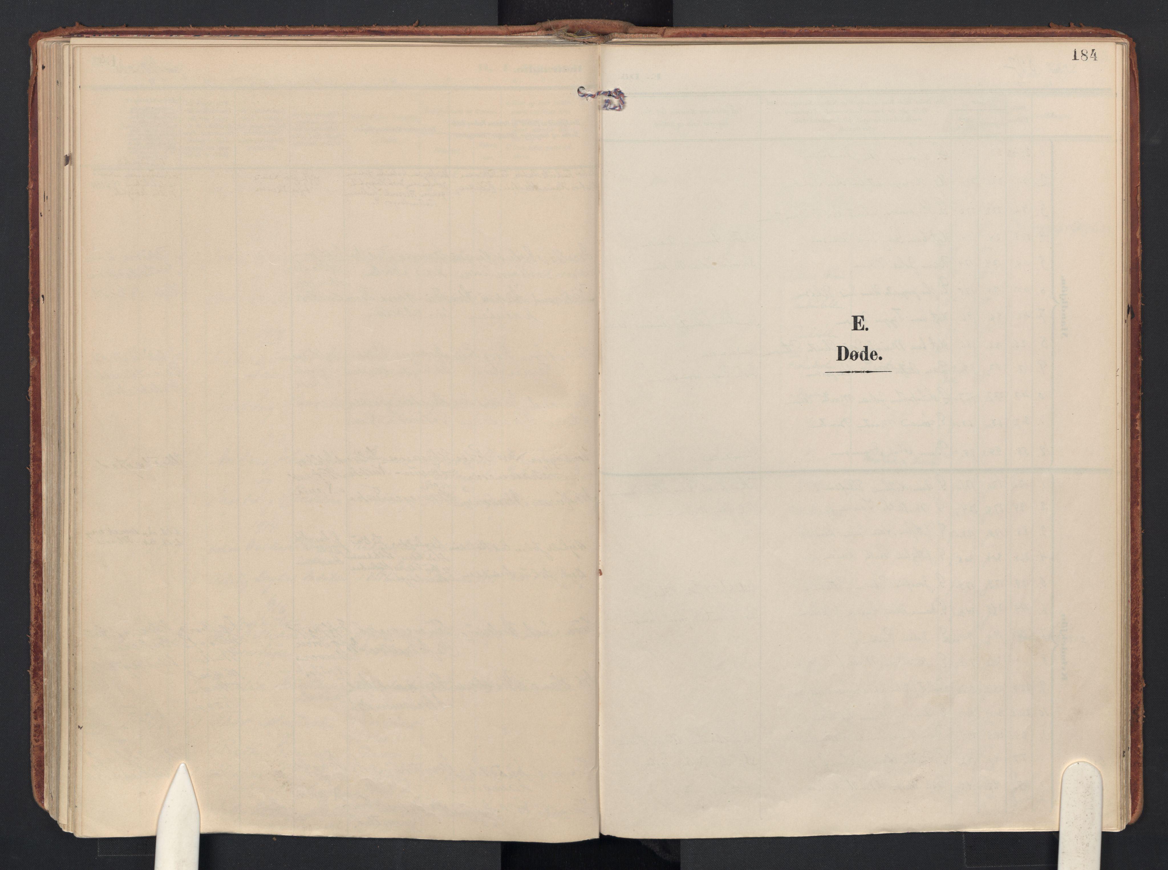 SAO, Drøbak prestekontor Kirkebøker, F/Fb/L0003: Ministerialbok nr. II 3, 1897-1918, s. 184