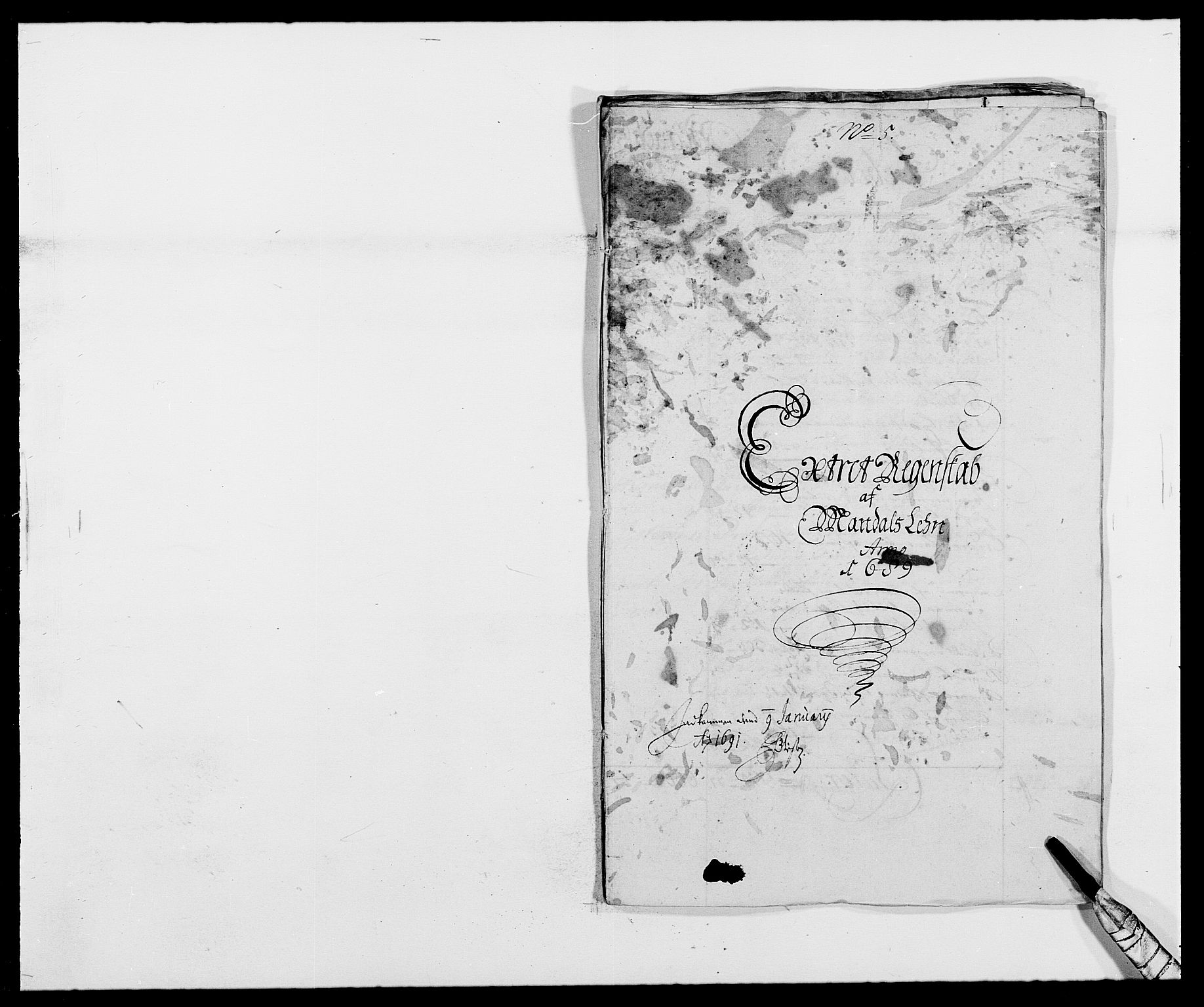 RA, Rentekammeret inntil 1814, Reviderte regnskaper, Fogderegnskap, R42/L2543: Mandal fogderi, 1688-1691, s. 103