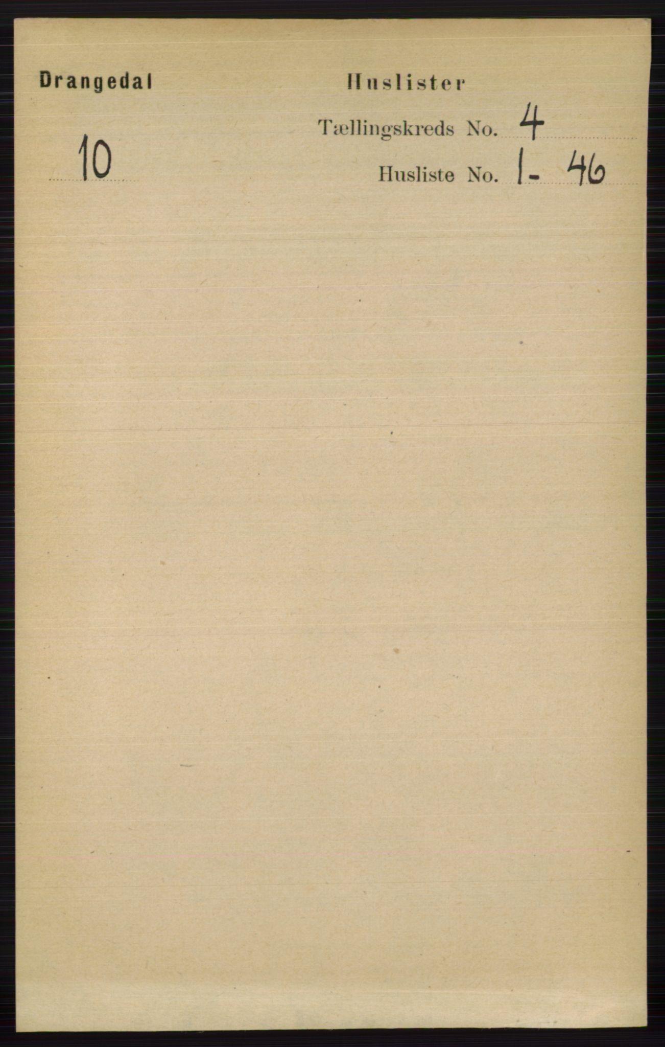 RA, Folketelling 1891 for 0817 Drangedal herred, 1891, s. 1246
