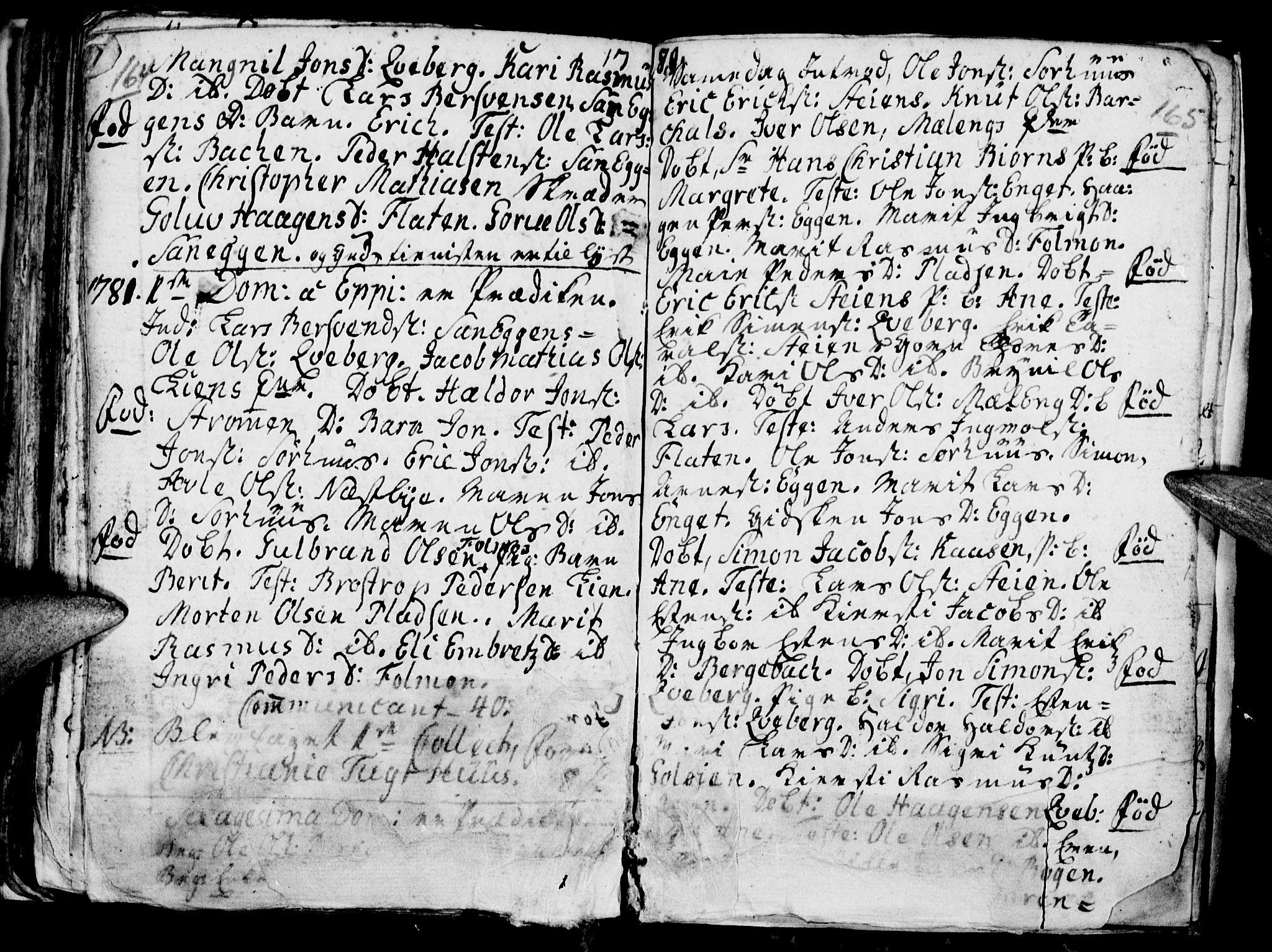 SAH, Tynset prestekontor, Ministerialbok nr. 9, 1769-1781, s. 164-165