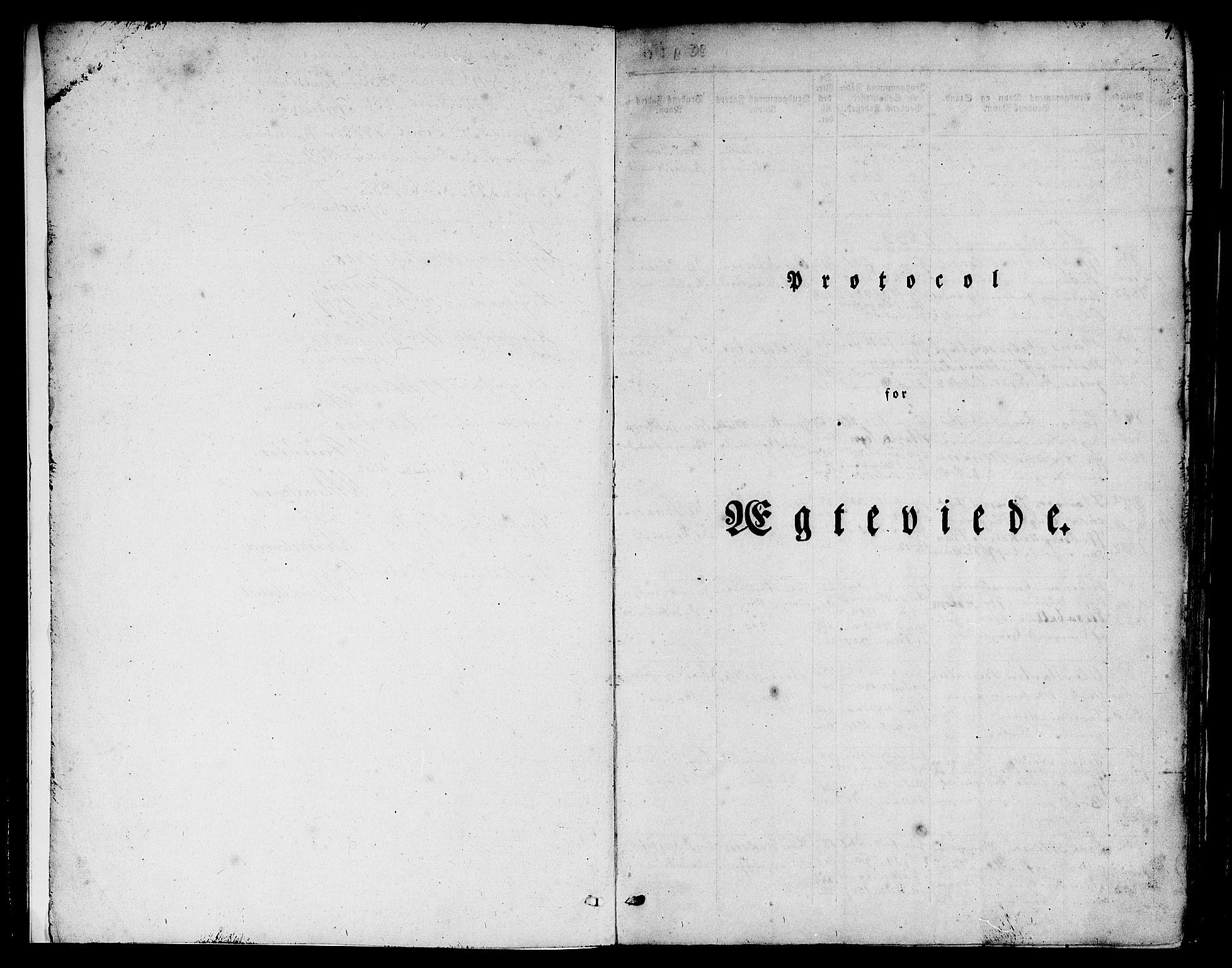 SAB, Nykirken Sokneprestembete, H/Hab: Klokkerbok nr. D 1, 1832-1867, s. 1