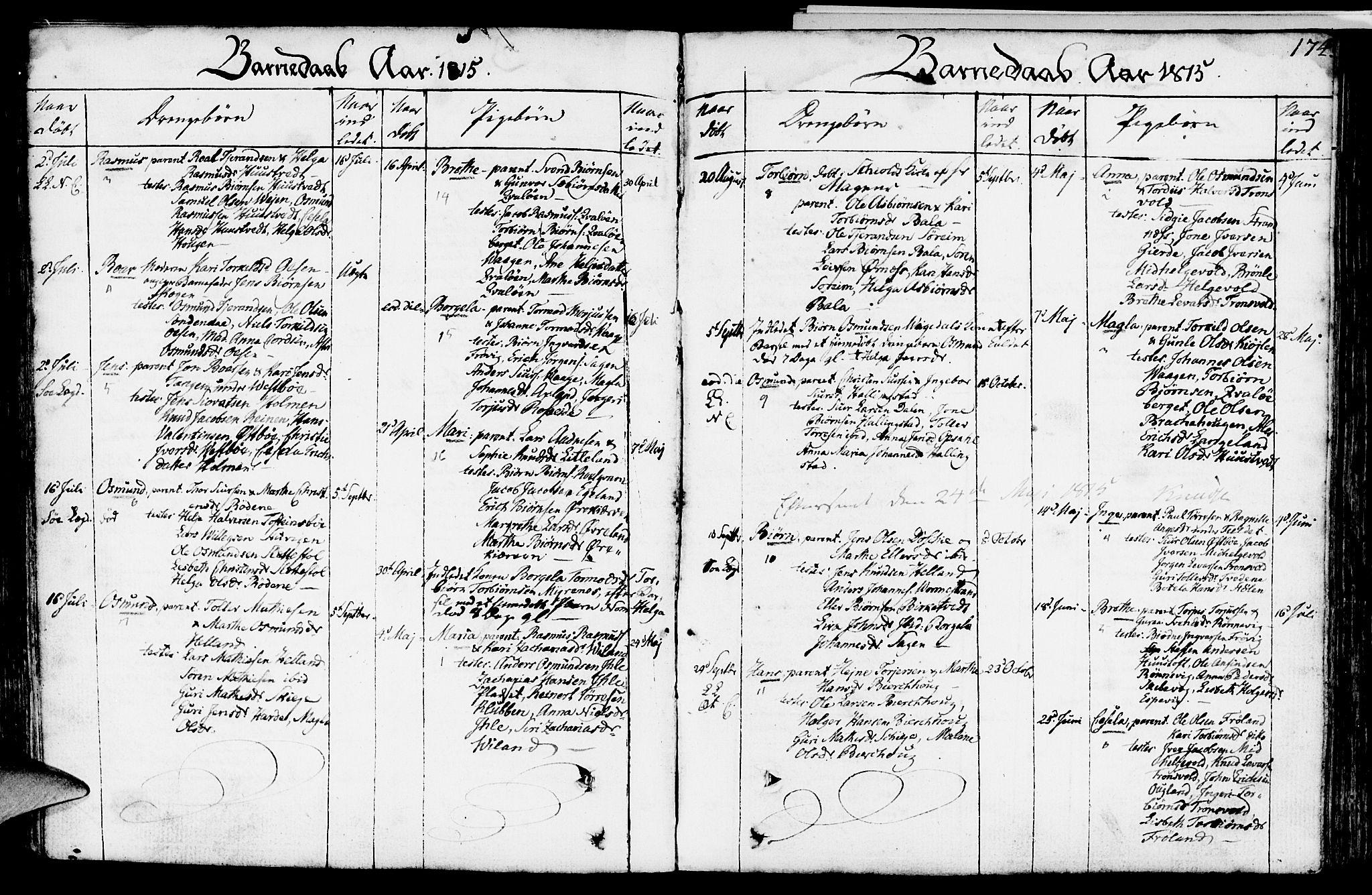 SAST, Vikedal sokneprestkontor, IV: Ministerialbok nr. A 2, 1779-1817, s. 174
