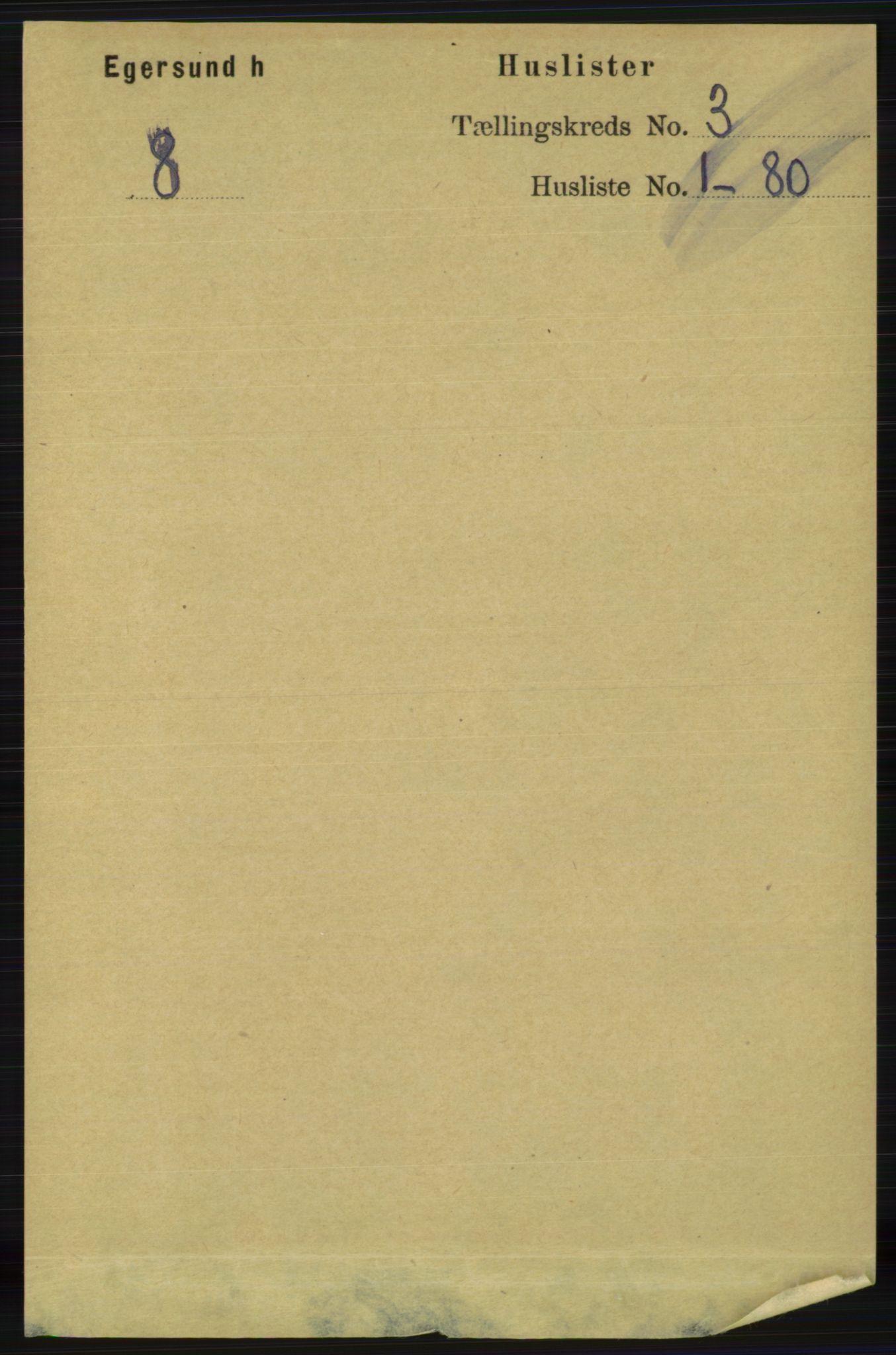 RA, Folketelling 1891 for 1116 Eigersund herred, 1891, s. 900