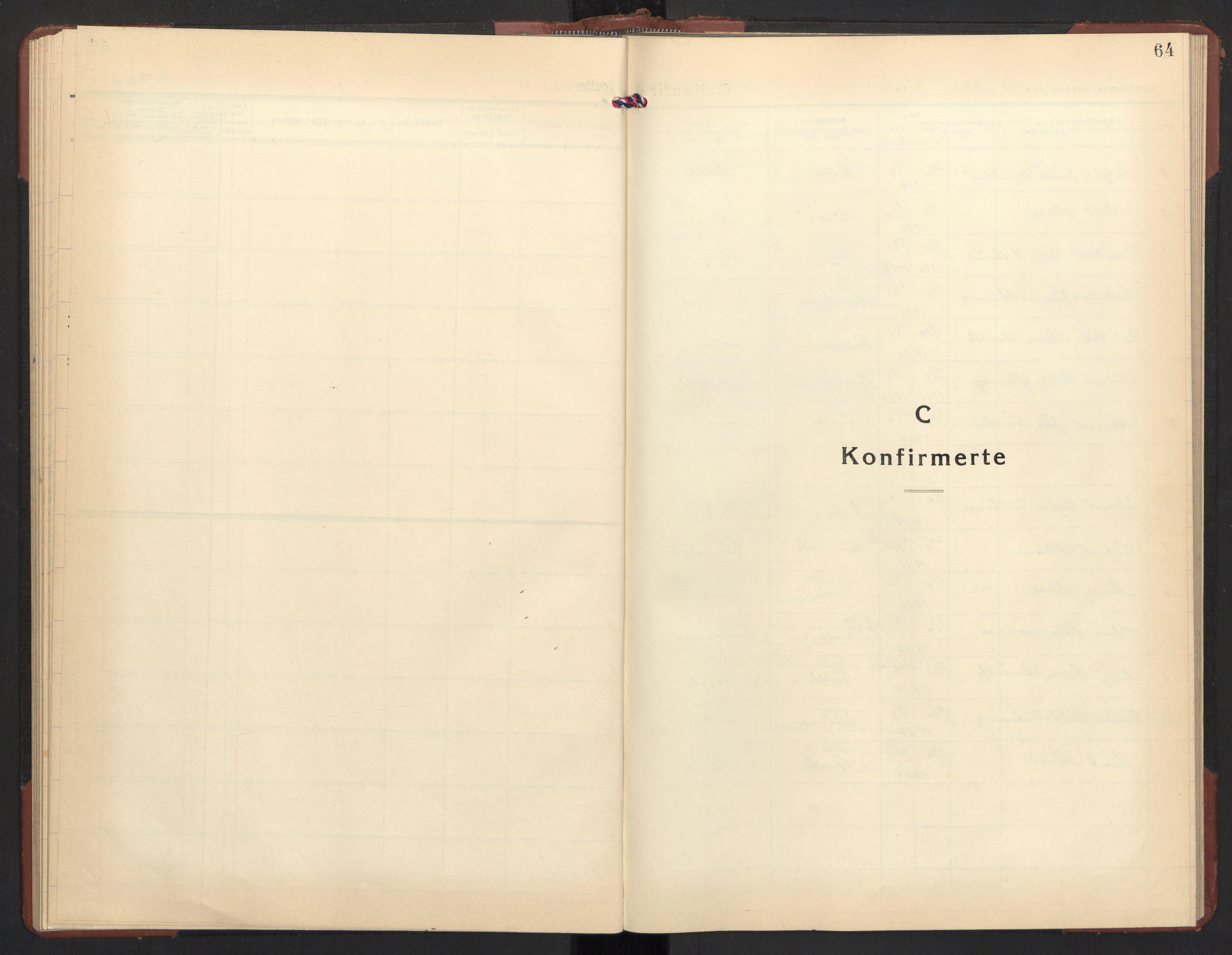 SAT, Ministerialprotokoller, klokkerbøker og fødselsregistre - Møre og Romsdal, 504/L0063: Klokkerbok nr. 504C05, 1939-1972, s. 64
