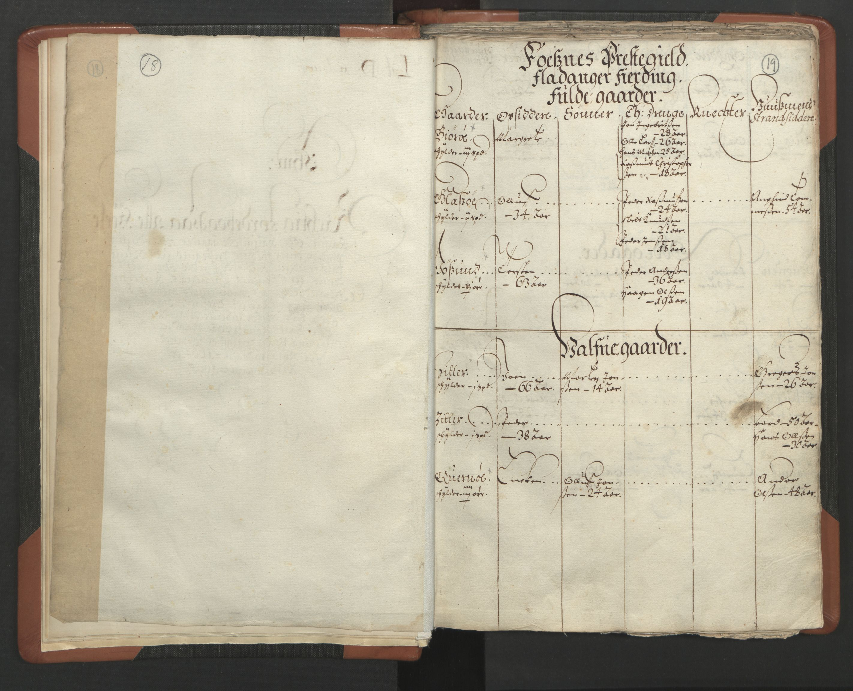 RA, Sogneprestenes manntall 1664-1666, nr. 34: Namdal prosti, 1664-1666, s. 18-19