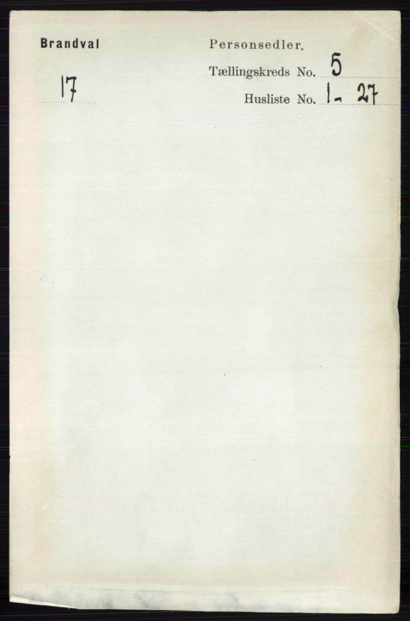 RA, Folketelling 1891 for 0422 Brandval herred, 1891, s. 2200