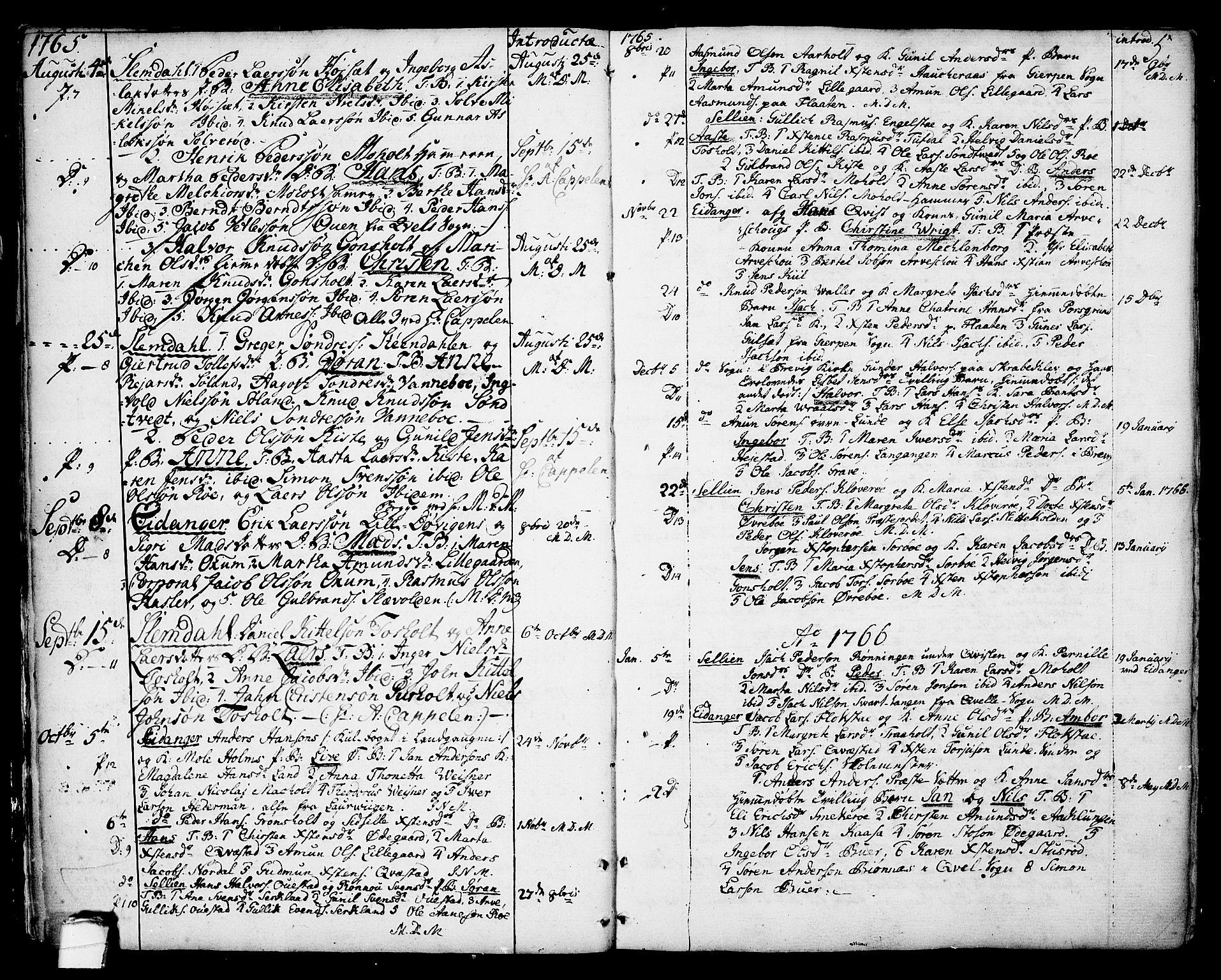 SAKO, Eidanger kirkebøker, F/Fa/L0006: Ministerialbok nr. 6, 1764-1814, s. 5