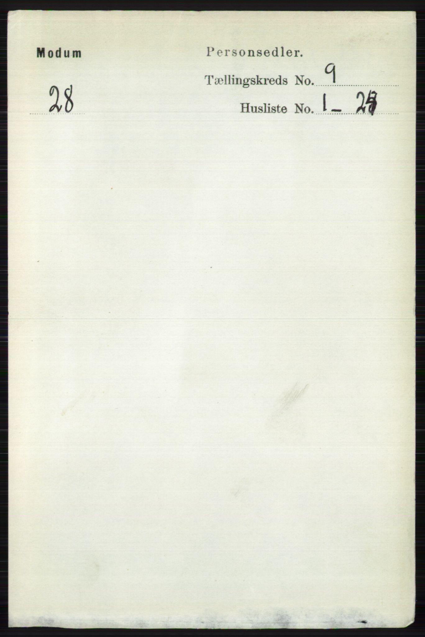 RA, Folketelling 1891 for 0623 Modum herred, 1891, s. 3454