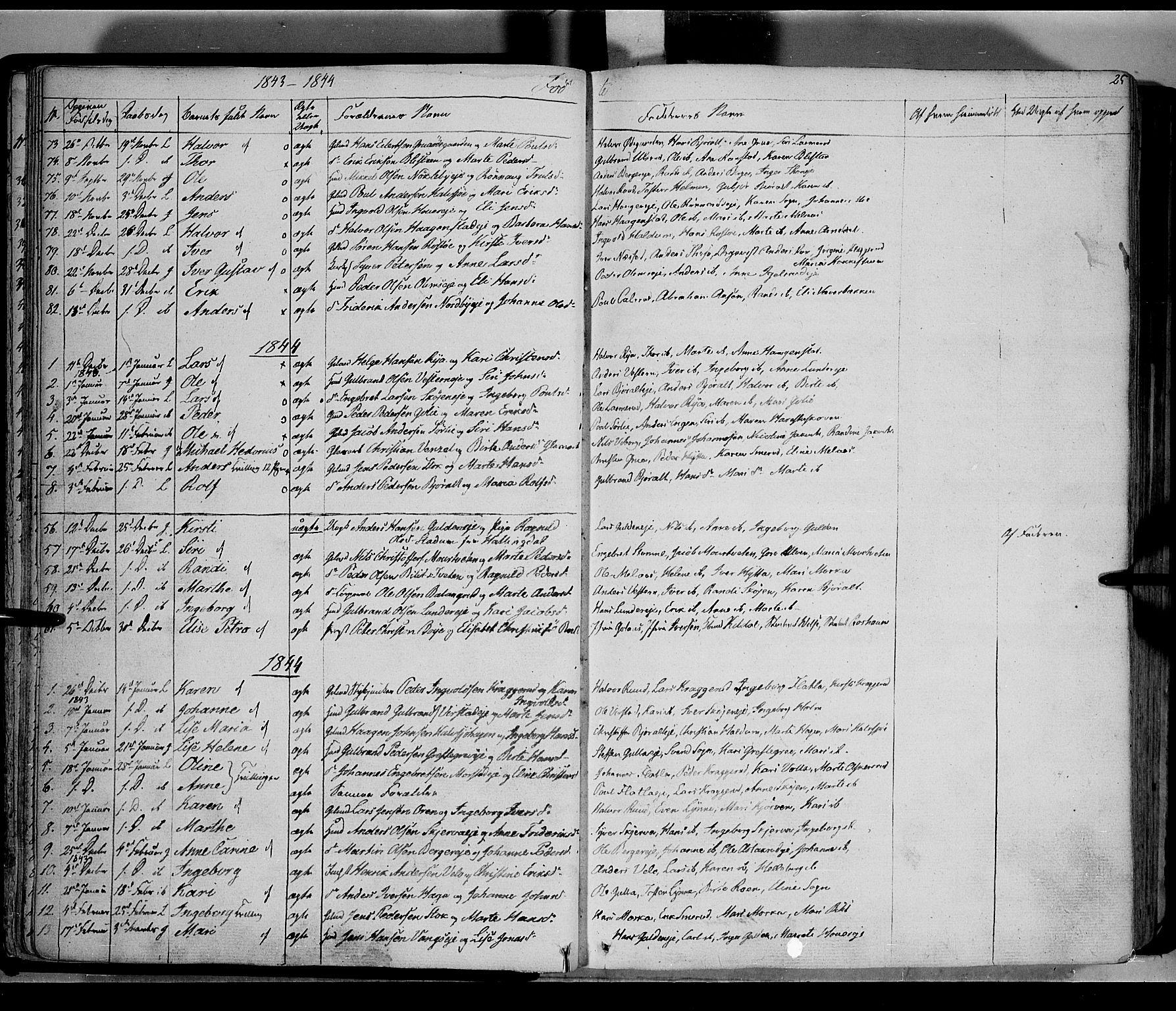 SAH, Jevnaker prestekontor, Ministerialbok nr. 6, 1837-1857, s. 25
